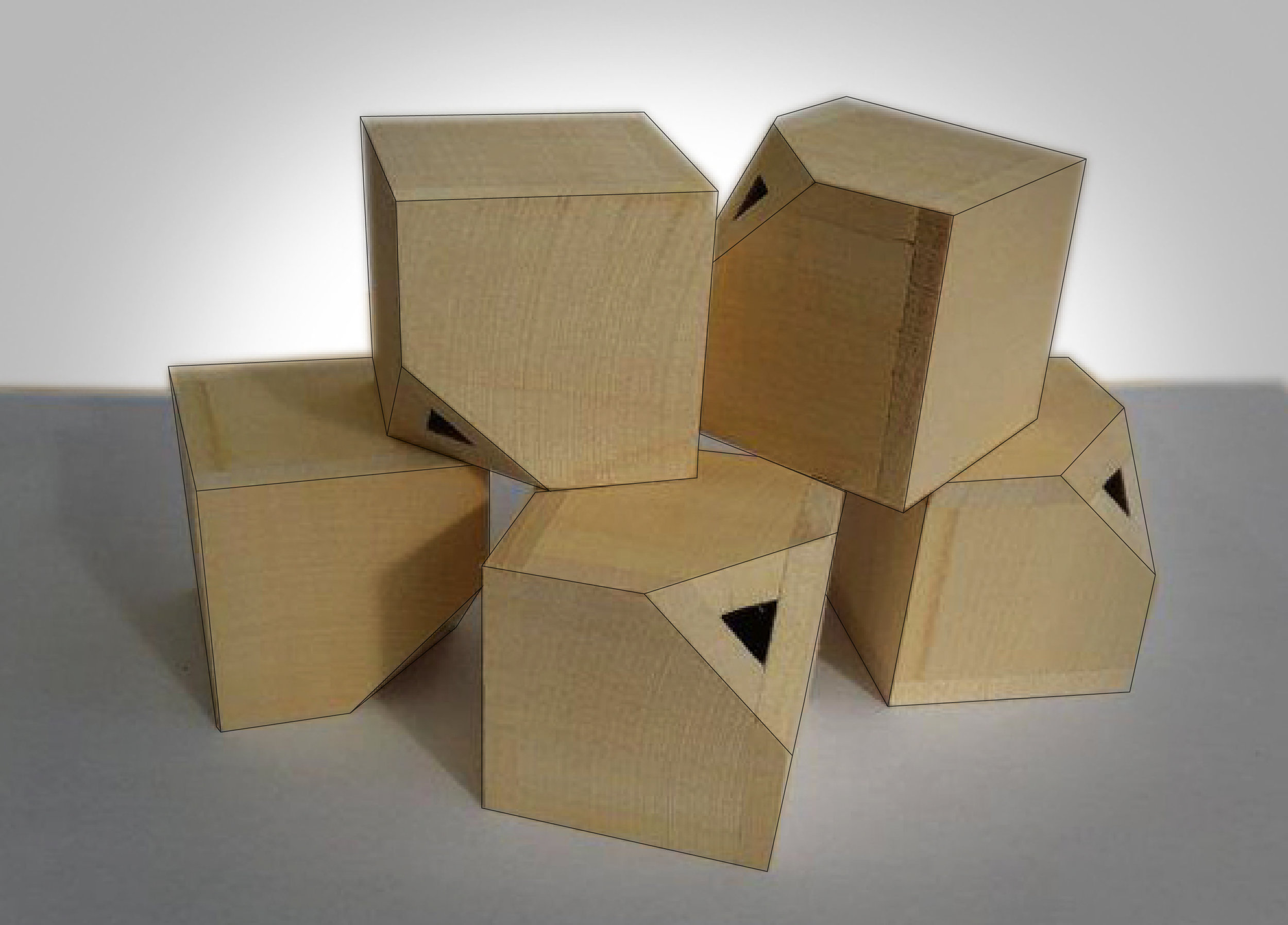"""0 - 2""""x2""""x2"""" Bass Wood Cubes"""