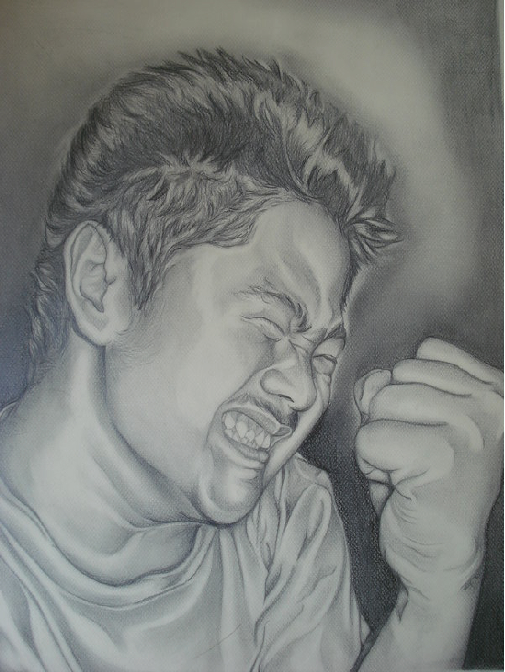 Untitled Self Portrait, graphite, 2007