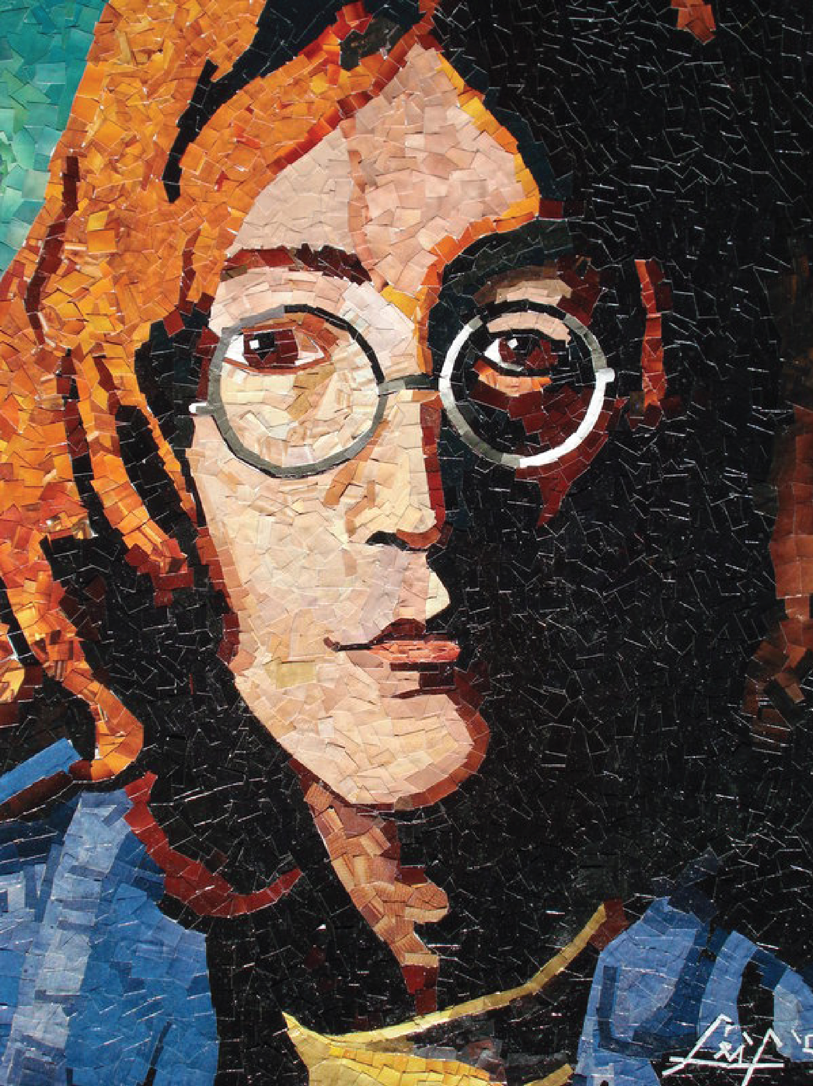 Pieces of Lennon, magazine cutouts, 2006