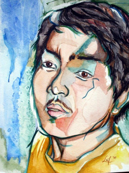 Self Portrait, watercolor, 2006