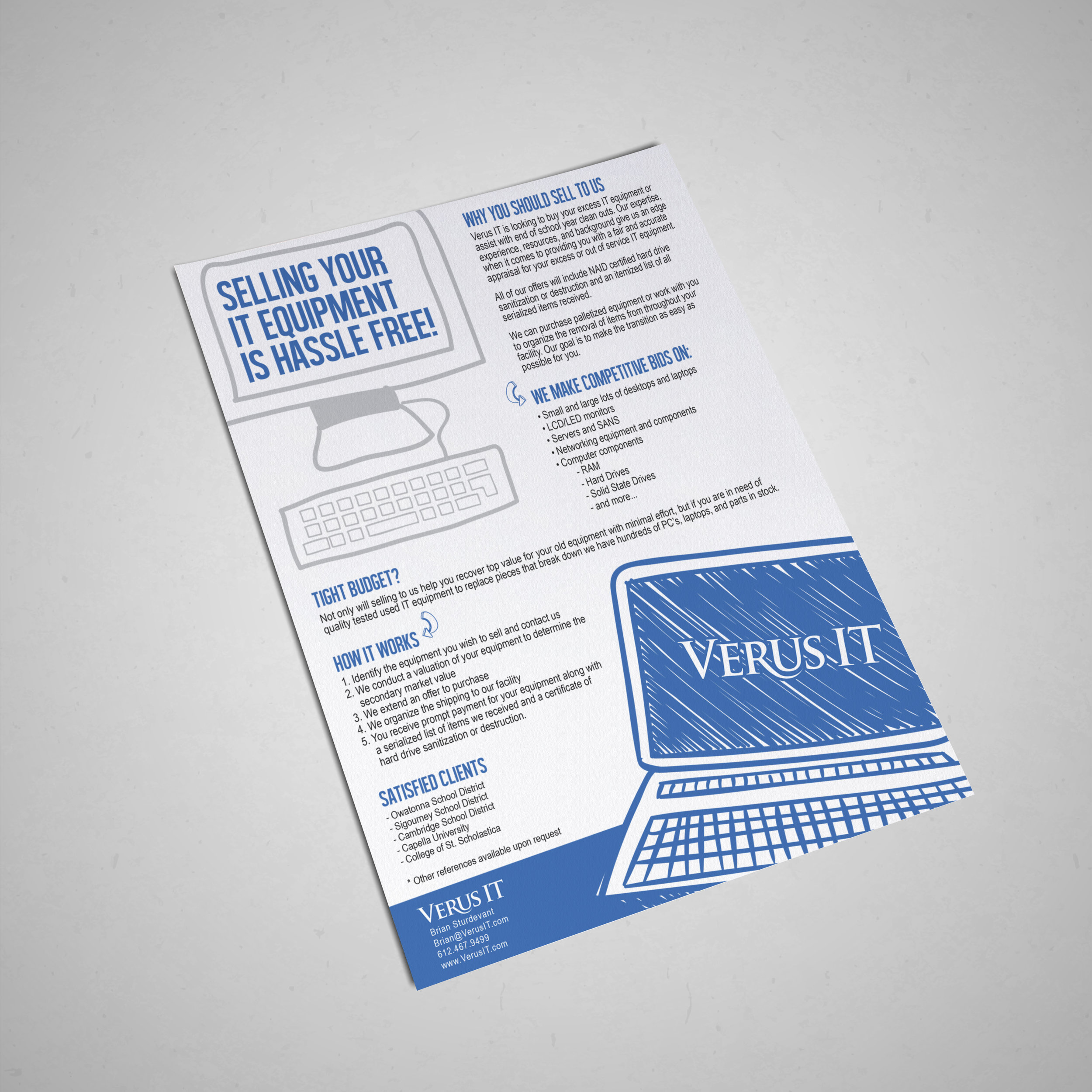 wedding vendor marketing materials