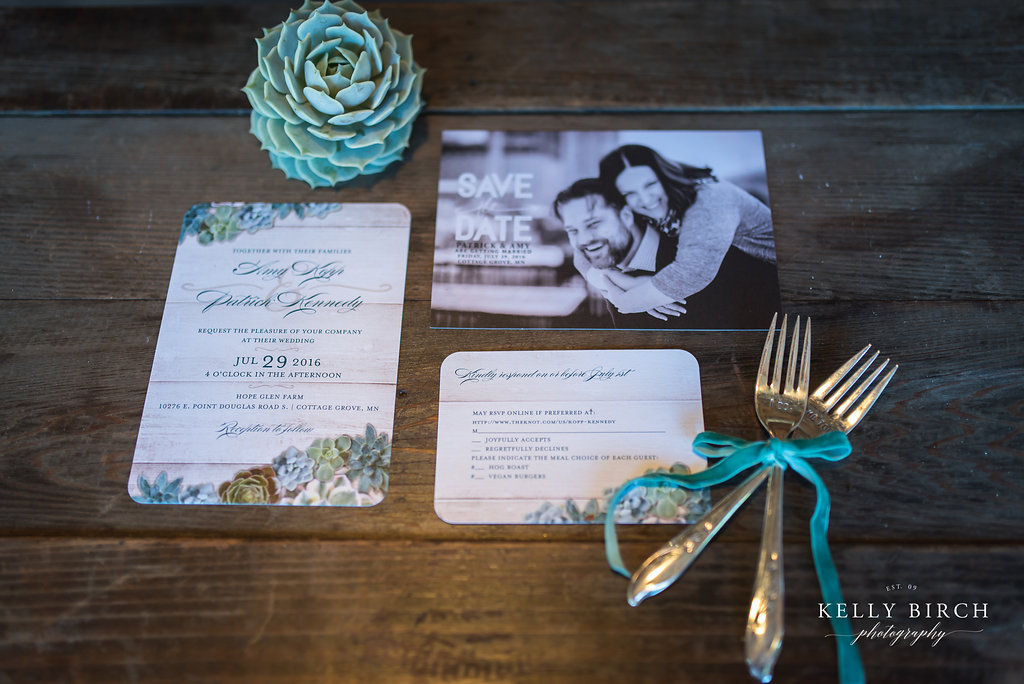 Succulents and Save the Dates