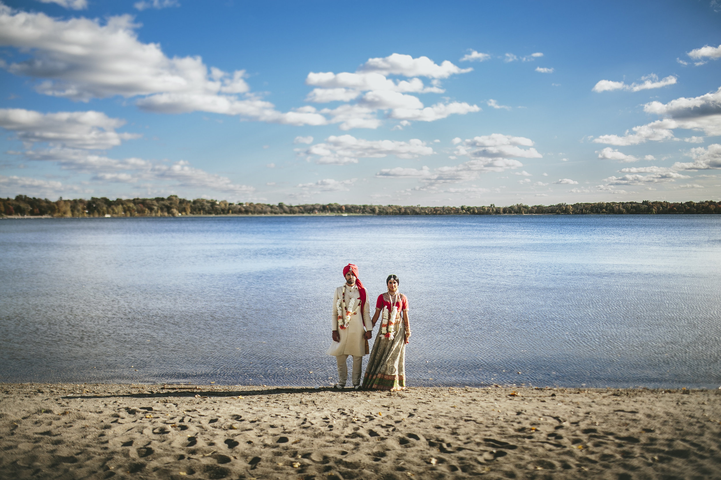 Brandon Werth Photography | Acowsay Cinema | Modern Indian Wedding by the Lake in Minnesota
