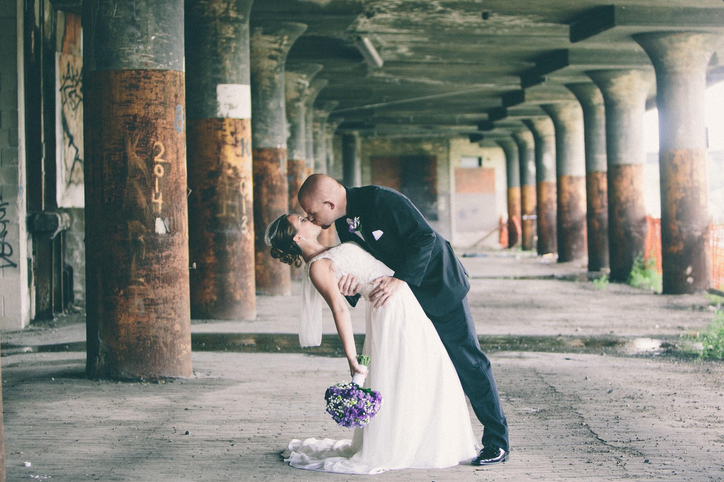 Mark Fierst Minneapolis Wedding Photographer | Sixpence Standard blog post | industrial backdrop