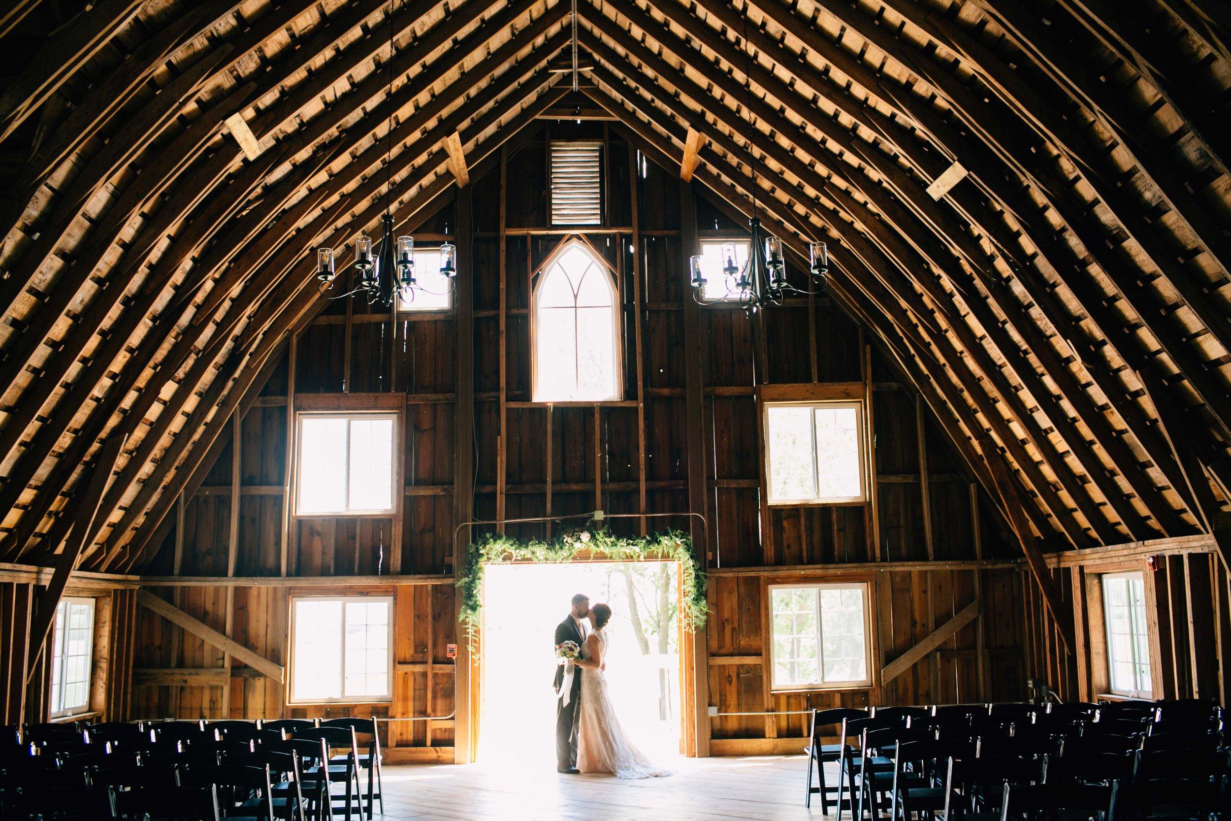 Mark Fierst Minneapolis Wedding Photographer | Sixpence Standard blog post | inside the Bloom Lake Barn in Shafer, MN