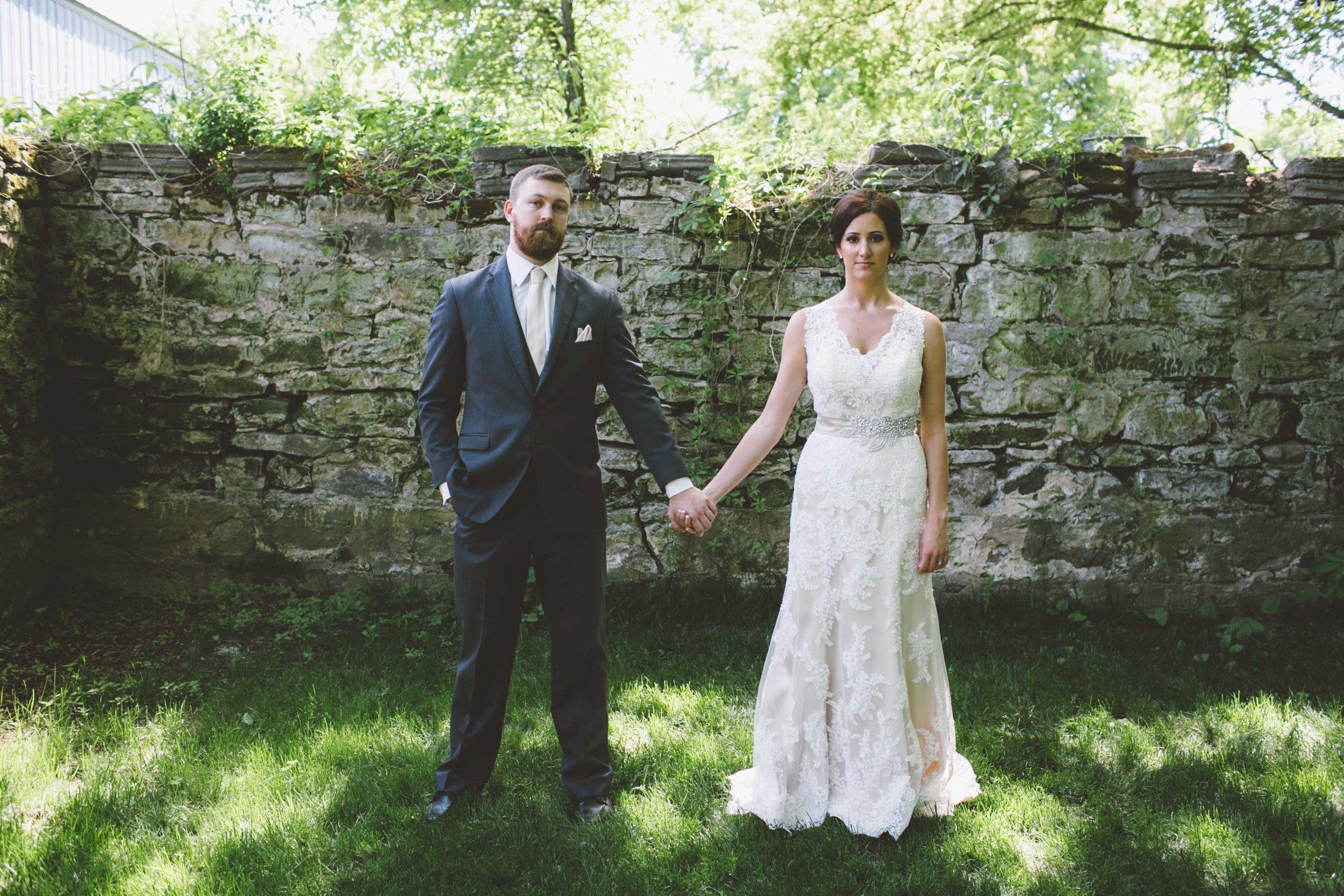 Mark Fierst Minneapolis Wedding Photographer | Sixpence Standard blog post | Bloom Lake Barn ruins backdrop