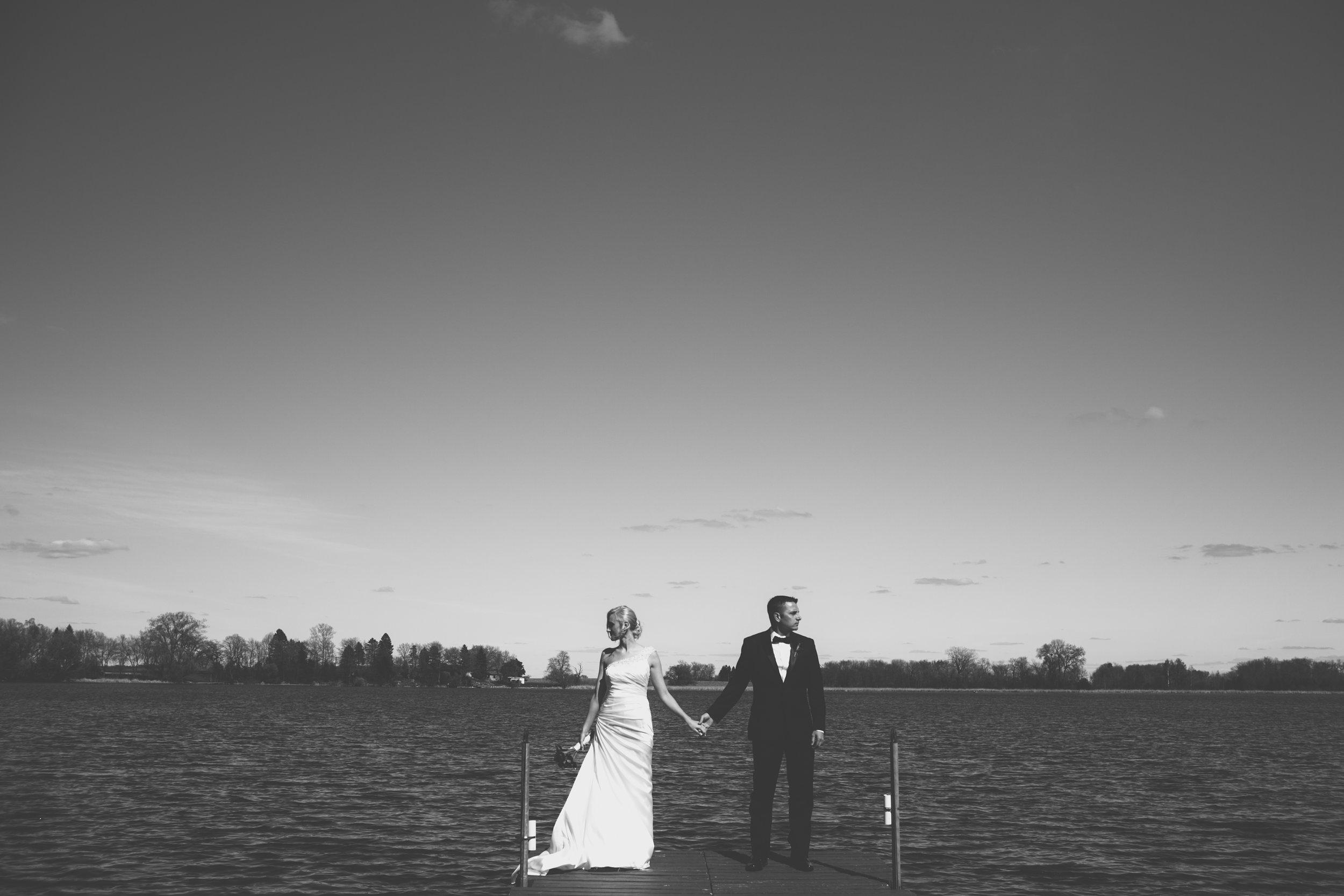 Mark Fierst Minneapolis Wedding Photographer | Sixpence Standard blog post | lakeside wedding backdrop