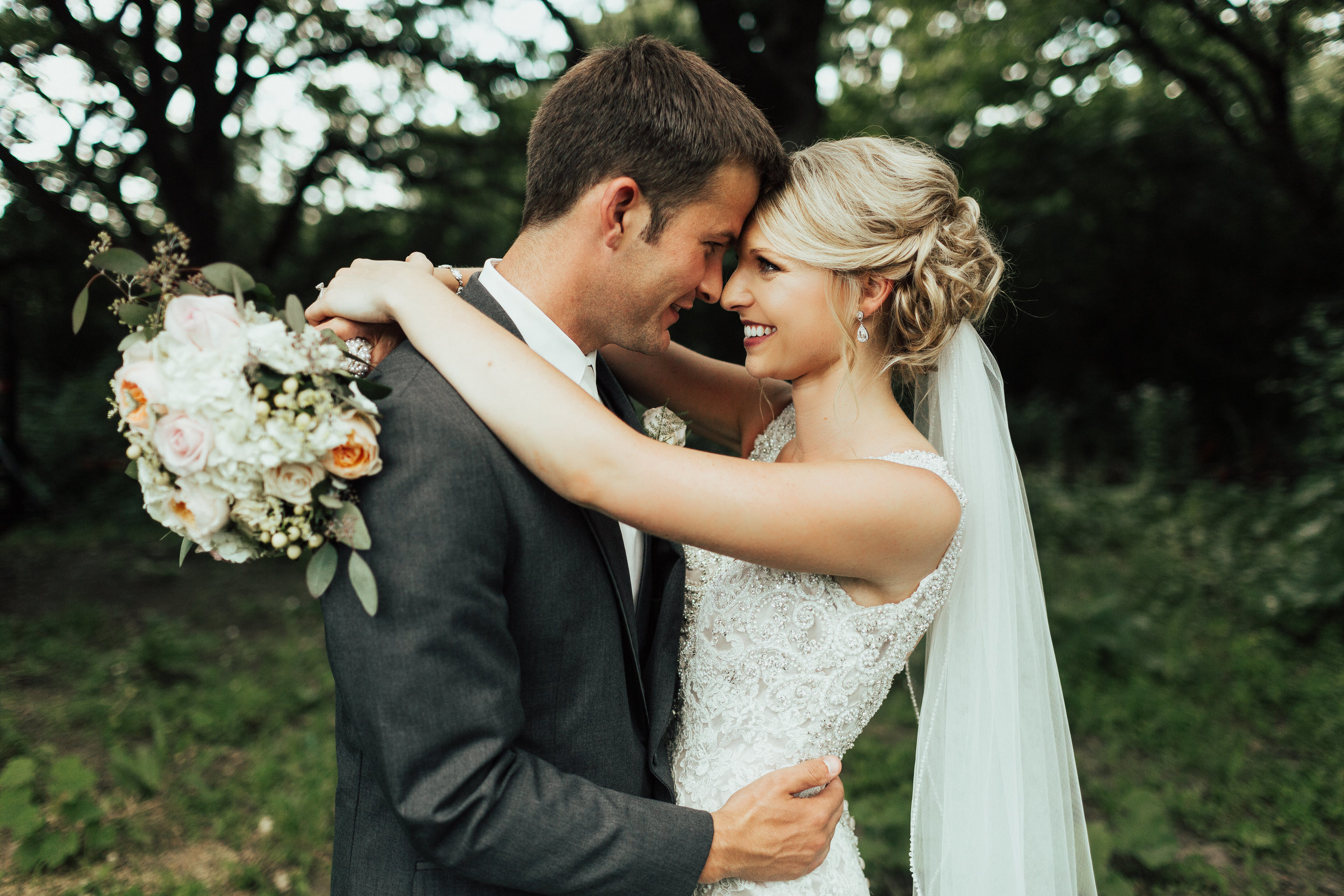 bride and groom just married photo | Janelle Elise Photography | Sixpence Events day of coordinating | wedding blog | wedding planned and rentals by A Vintage Touch Weddings