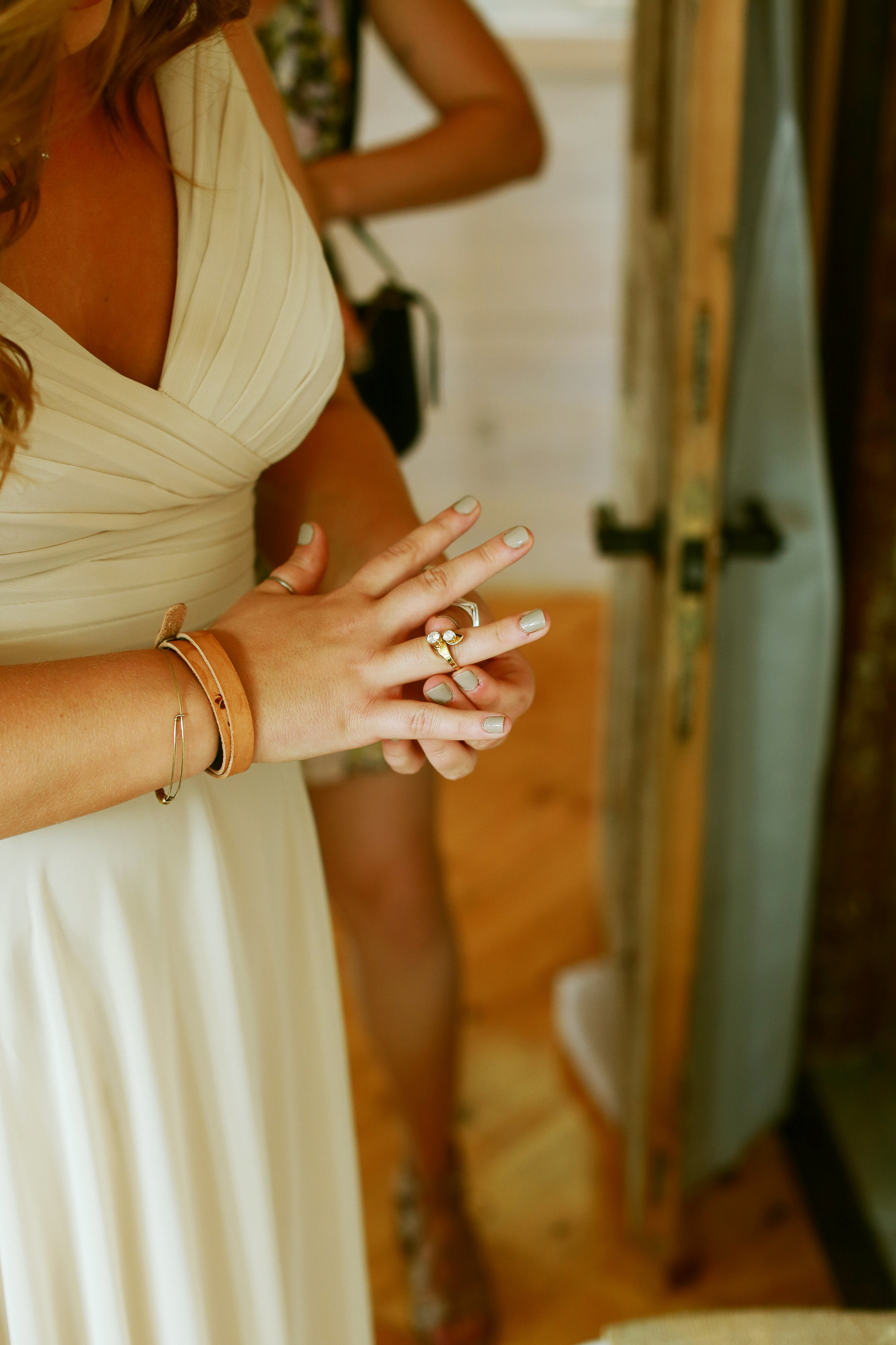 Jenna Kevin Wedding   Sixpence Events day of coordinating   Hannah Schmitt Photography   Legacy Hill Farm   bridesmaid gift ring