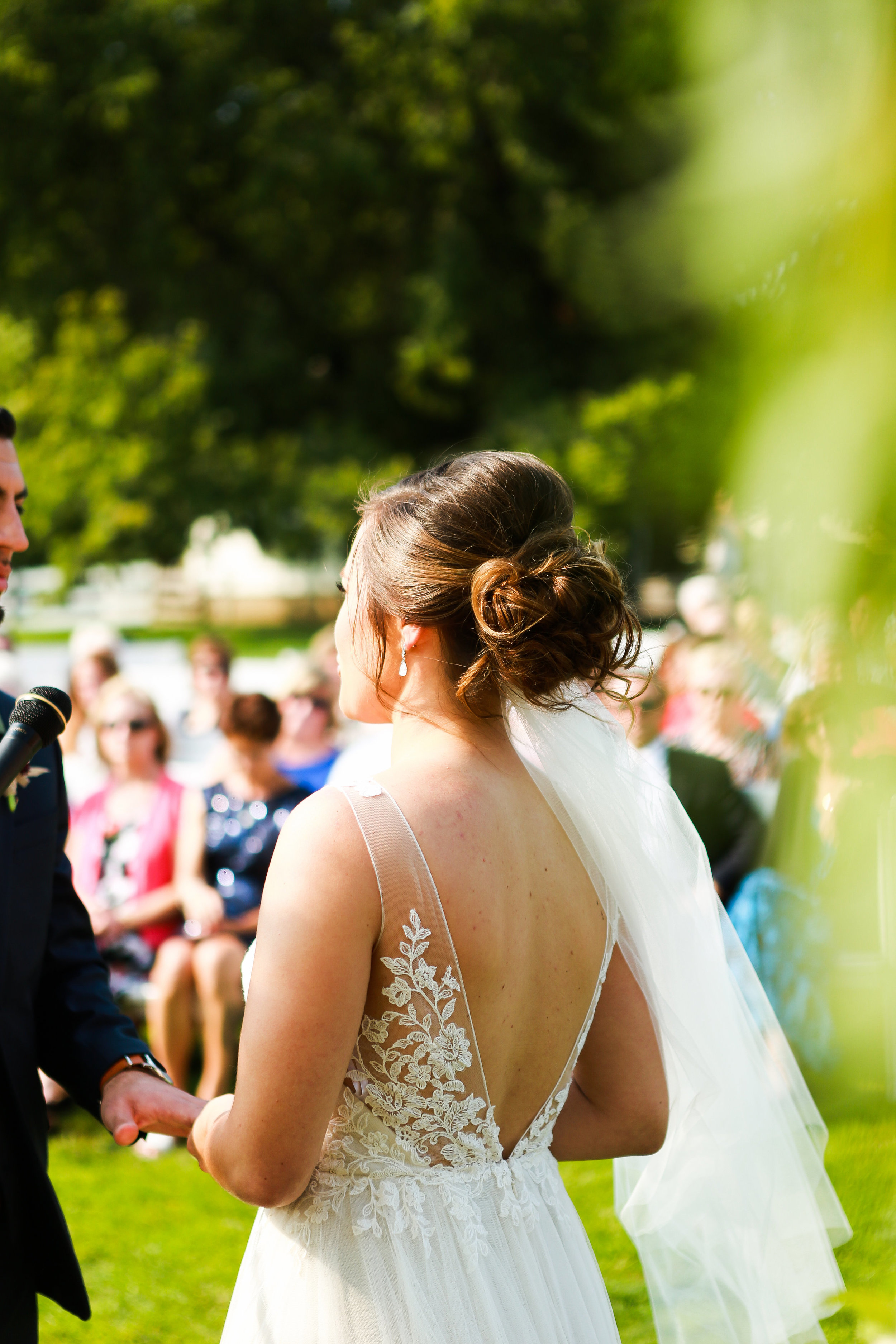 Jenna Kevin Wedding   Sixpence Events day of coordinating   Hannah Schmitt Photography   Legacy Hill Farm   bride reciting her vows