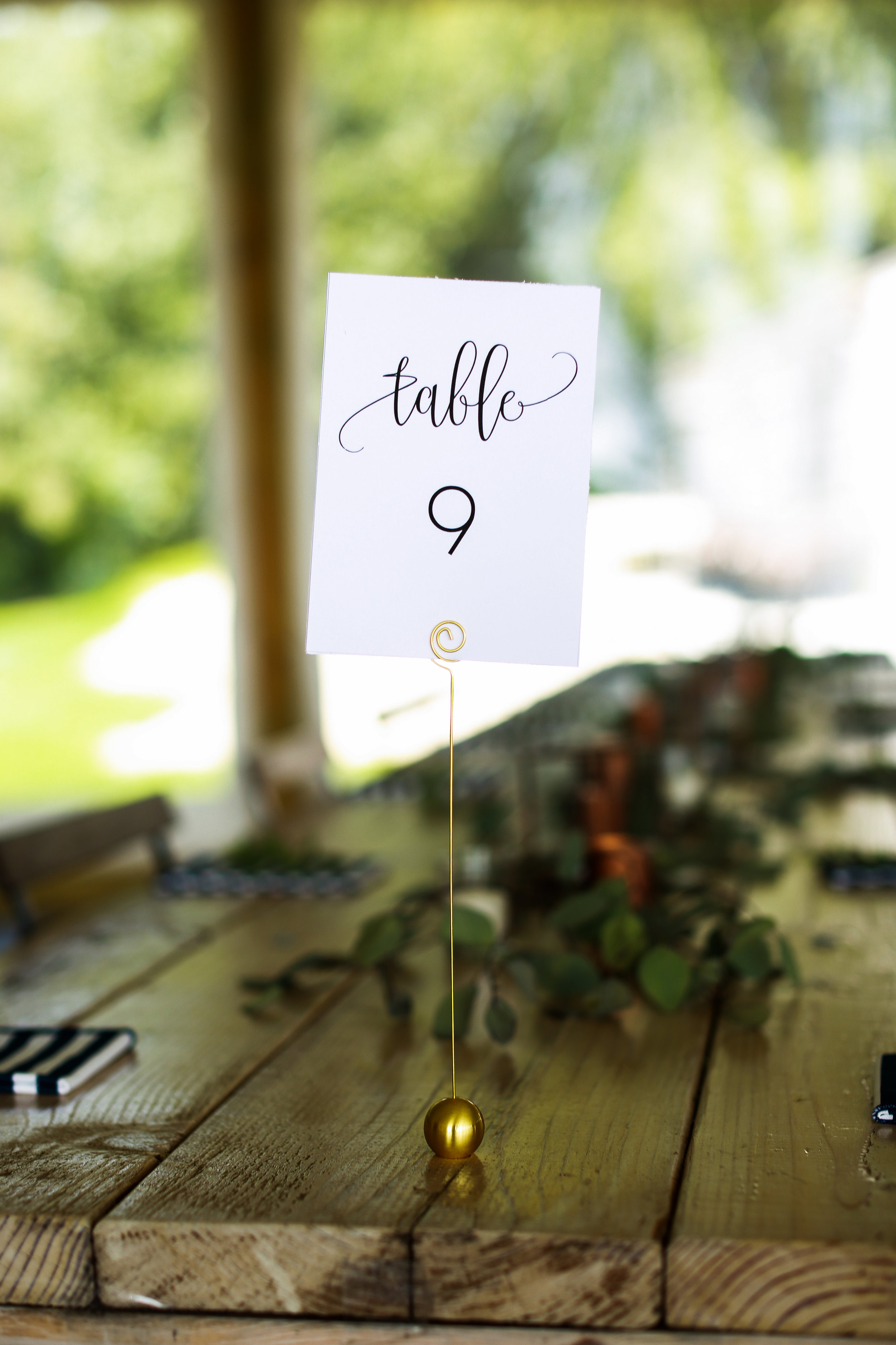Jenna Kevin Wedding   Sixpence Events day of coordinating   Hannah Schmitt Photography   Legacy Hill Farm   table number