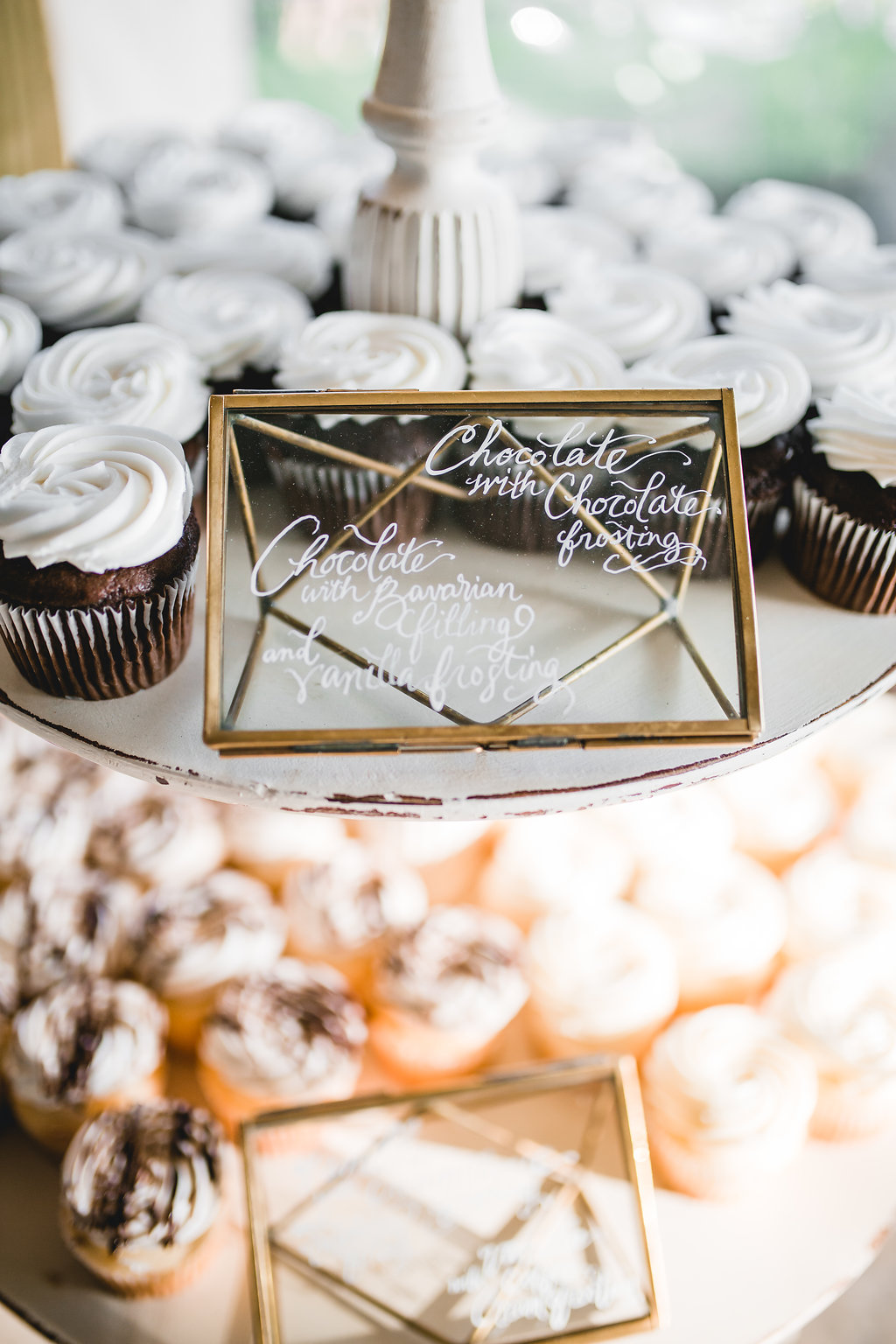 Leslee + Billy | Aqua Fox Photography | Legacy Hill Farm | dessert bar signage on geo domes by A Vintage Touch weddings