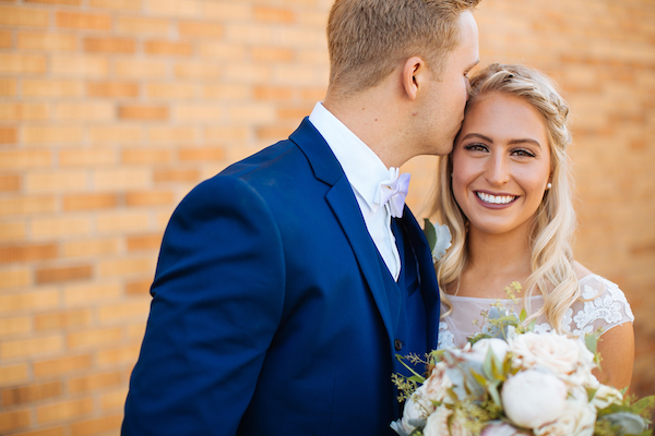 Hailey and Hunter | Alyssa Lee Photography | Sixpence Events & Planning | forehead kiss