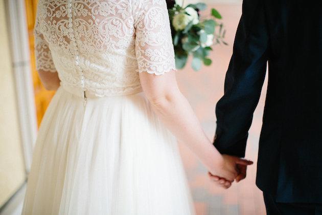 bridal gown separates with lace overlay sleeves | Nicole + Luke | Villa Bellezza | Kristina Lorraine Photo20.jpg