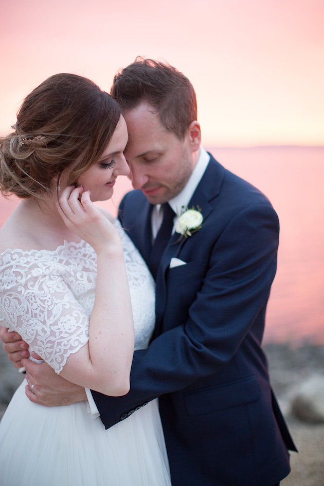 Golden Hour photo at Lake Pepin, WI | Kristina Lorraine Photography | Sixpence Events day of coordinating