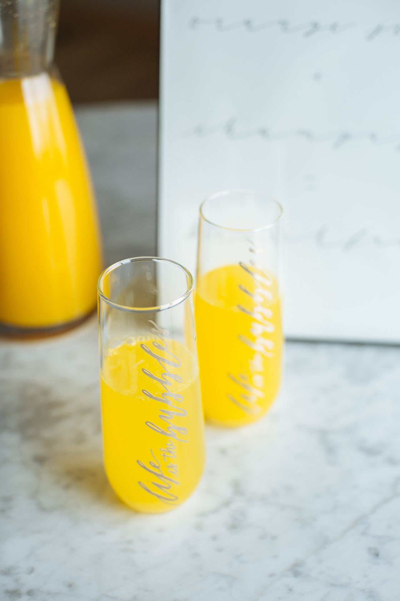 Alyssa Lee Photography // Haven and Hasbrook // Radisson Blu // Sixpence Events and Planning mimosa breakfast with stemless champagne flutes