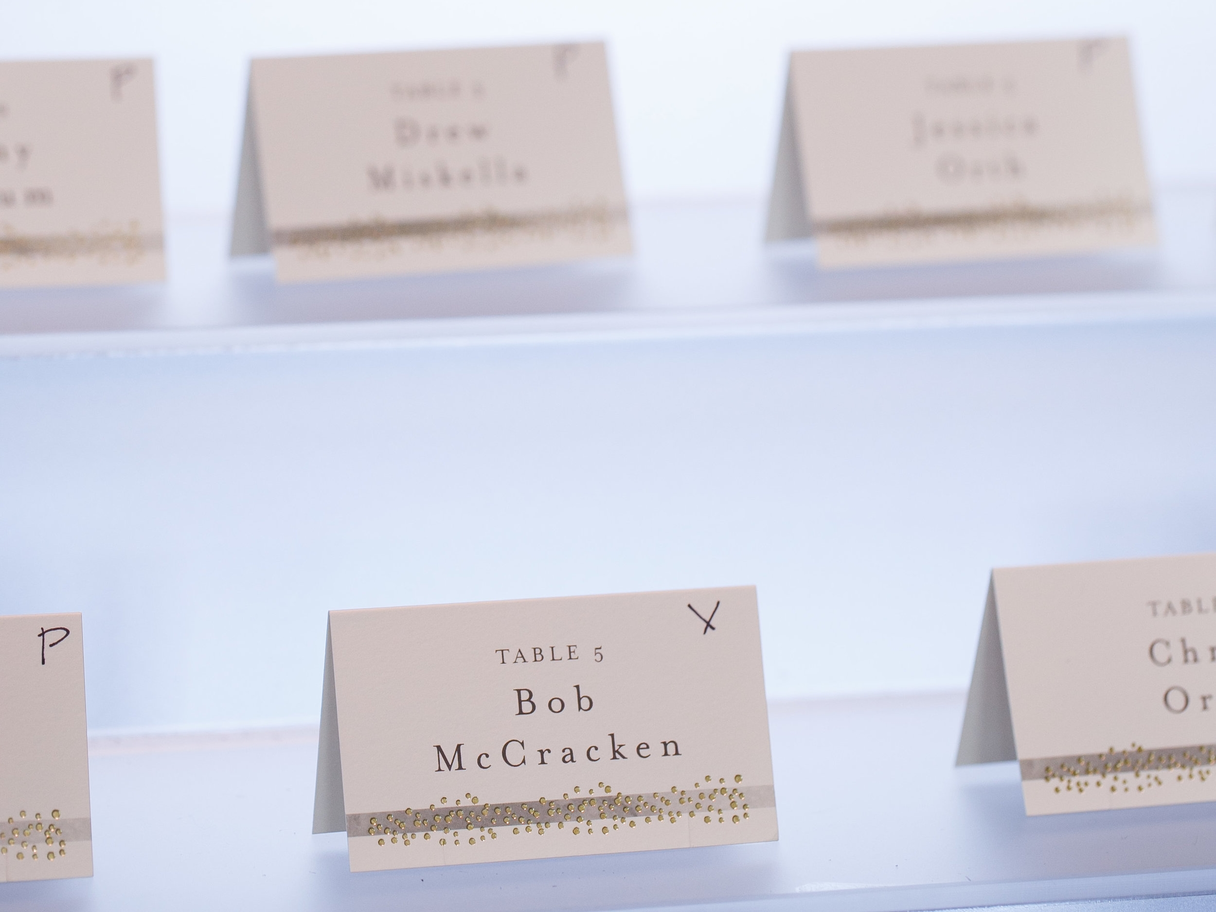 Brovado Wedding Photography | Machine Shop Minneapolis | Sixpence Events Day of Coordinating | marking escort cards for meal selection.jpg
