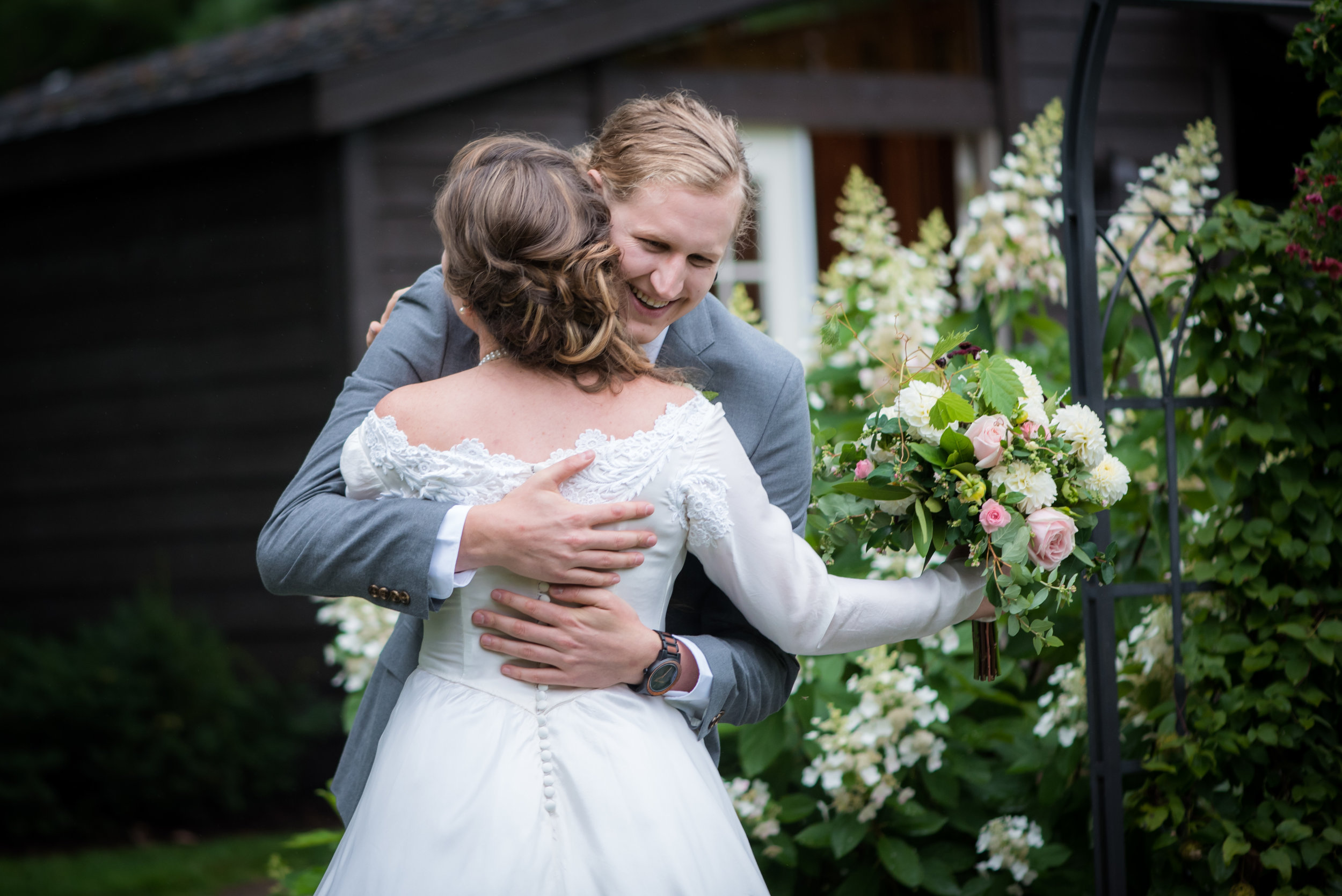 first look // Backyard Wedding in Northfield, MN :: Elliot Malcom Photography :: Megan + Andrew :: Apres Tent Rental :: GastroTruck Catering :: Sixpence Events & Planning .jpg