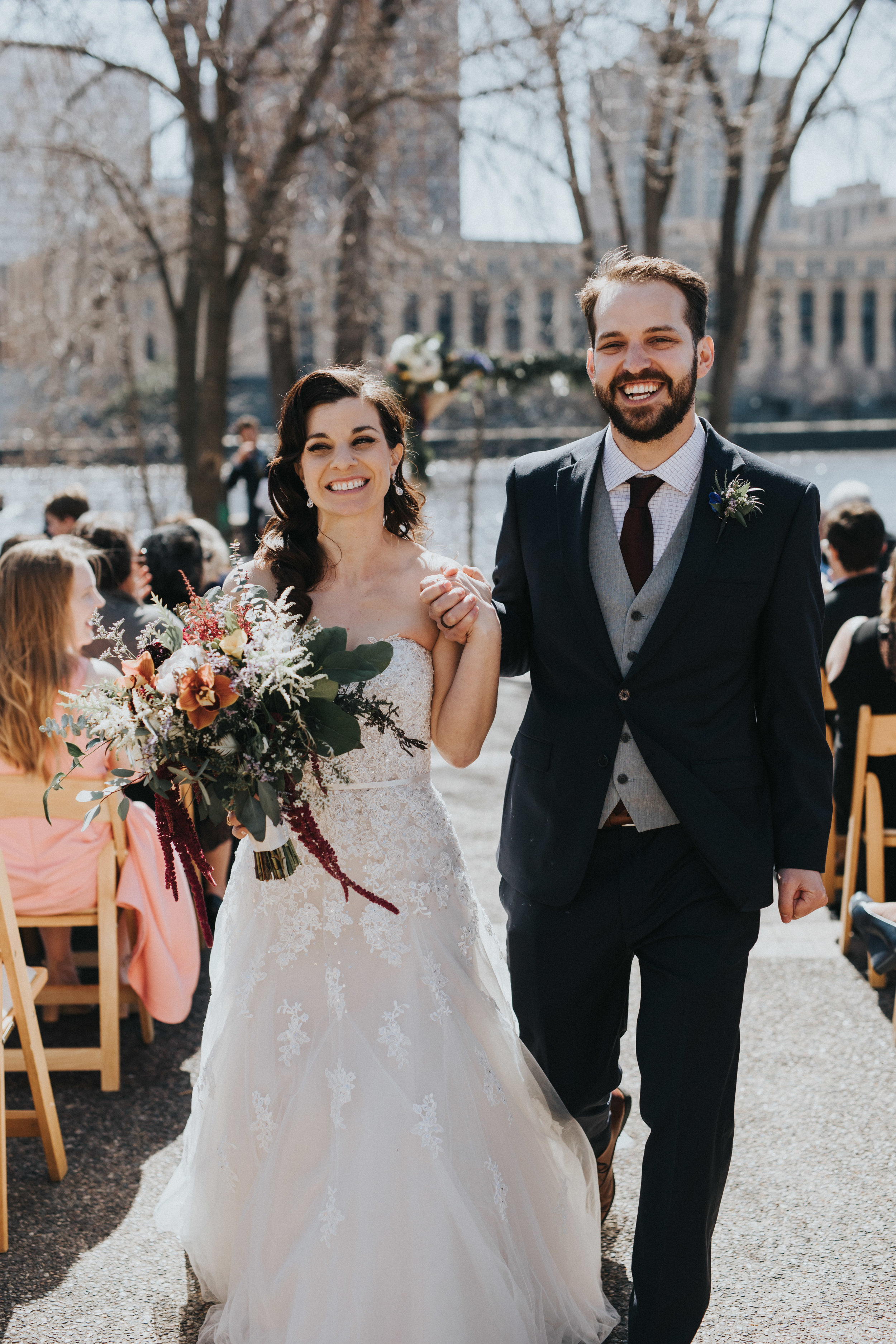 Just married | Russell Heeter Photography :: Minneapolis wedding planner Sixpence Events :: Nicollet Island Pavilion :: april wedding in Minnesota.jpg