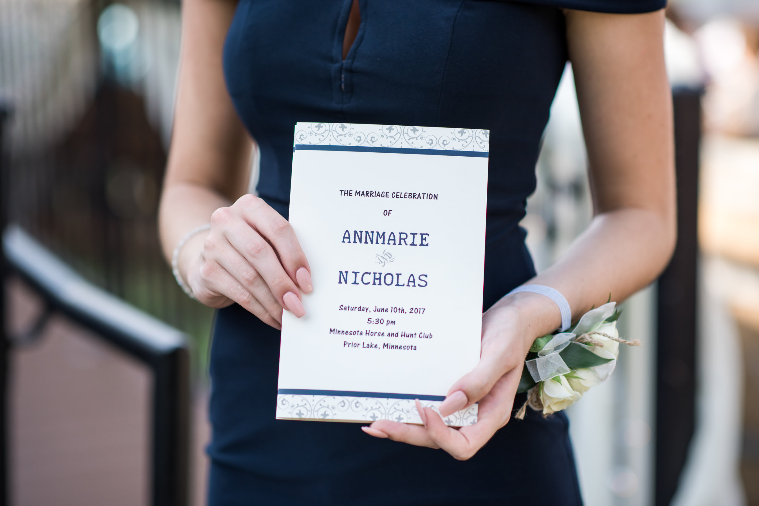 program blue band top and bottom | Kelly Birch Photography :: Horse and Hunt Club :: Sixpence Events Minnesota wedding planner .jpg