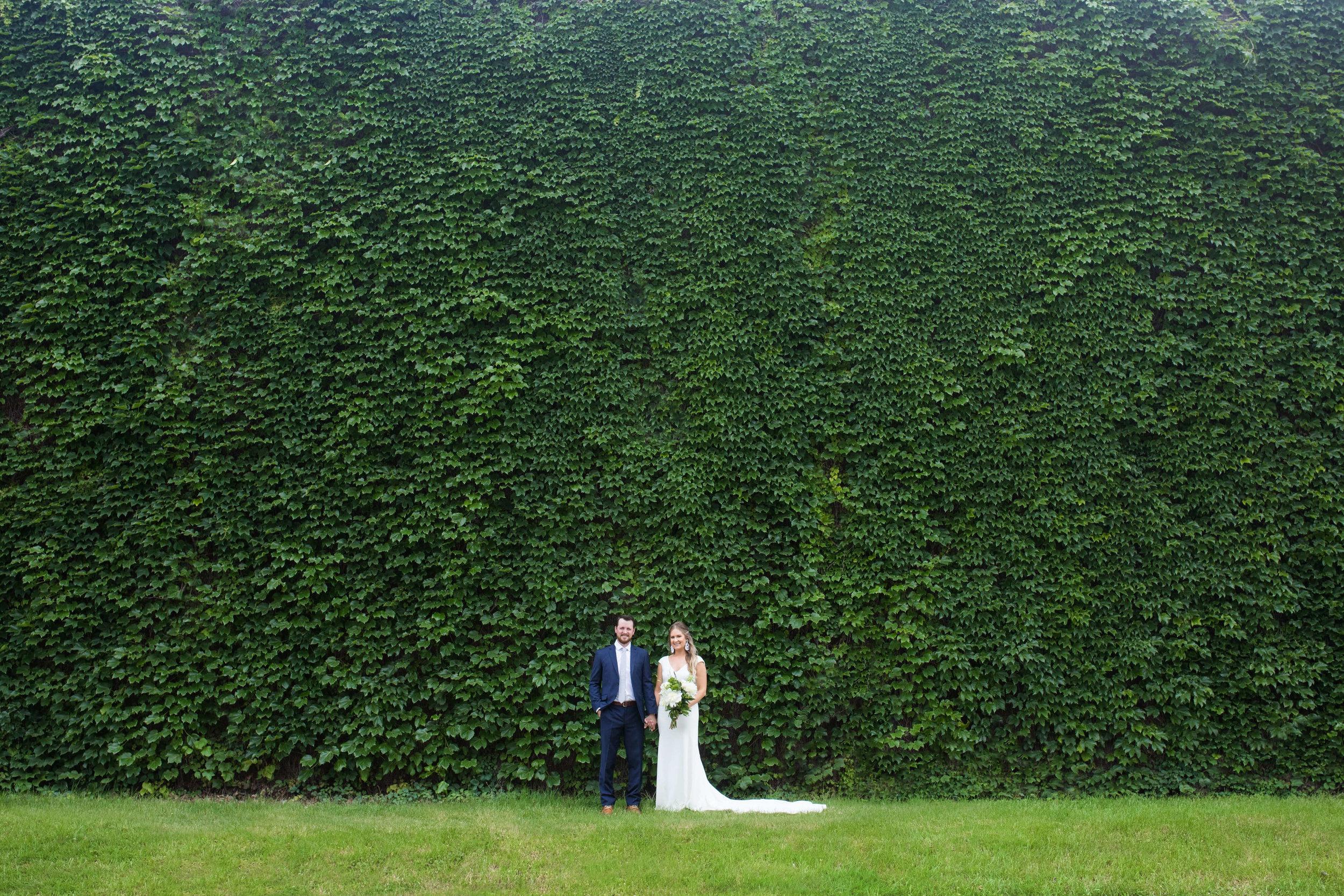ivy wall backdrop wedding | Minnesota wedding photographer Studio KH wedding dress details | wedding blog | Sixpence Events 70 Ways to Photograph Your Wedding Dress.jpg