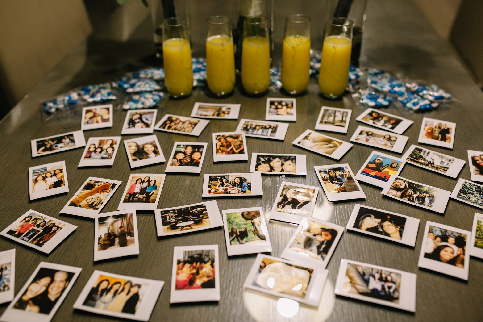 polaroid pictures and mimosas ::Whims and Joy Minneapolis photographer :: Sixpence Events & Planning Minnesota wedding planner :: Nicollet Island Pavilion.jpg