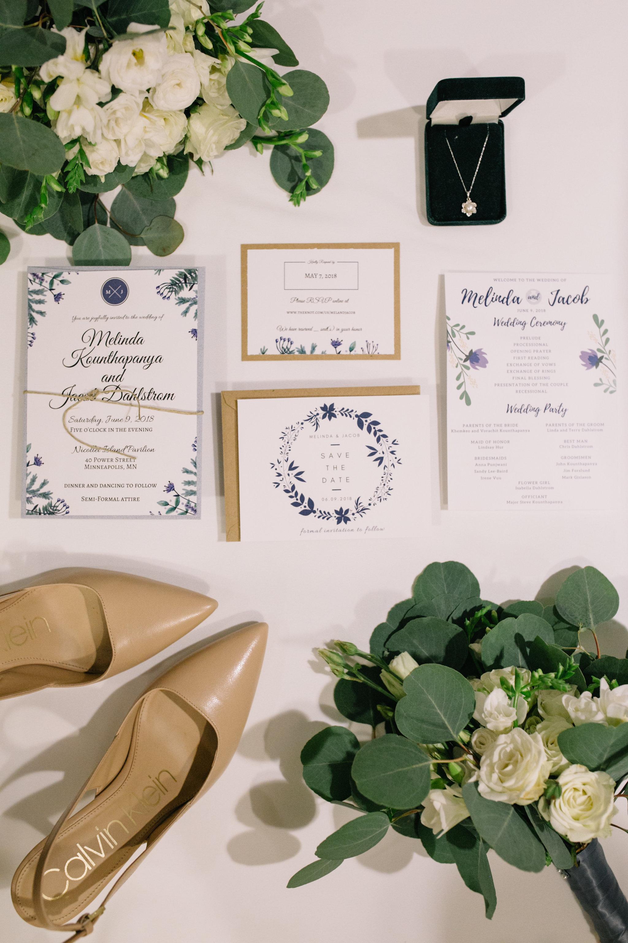 Invitation suite :: flat lay :: Whims and Joy Minneapolis photographer :: Sixpence Events & Planning Minnesota wedding planner :: Nicollet Island Pavilion.jpg