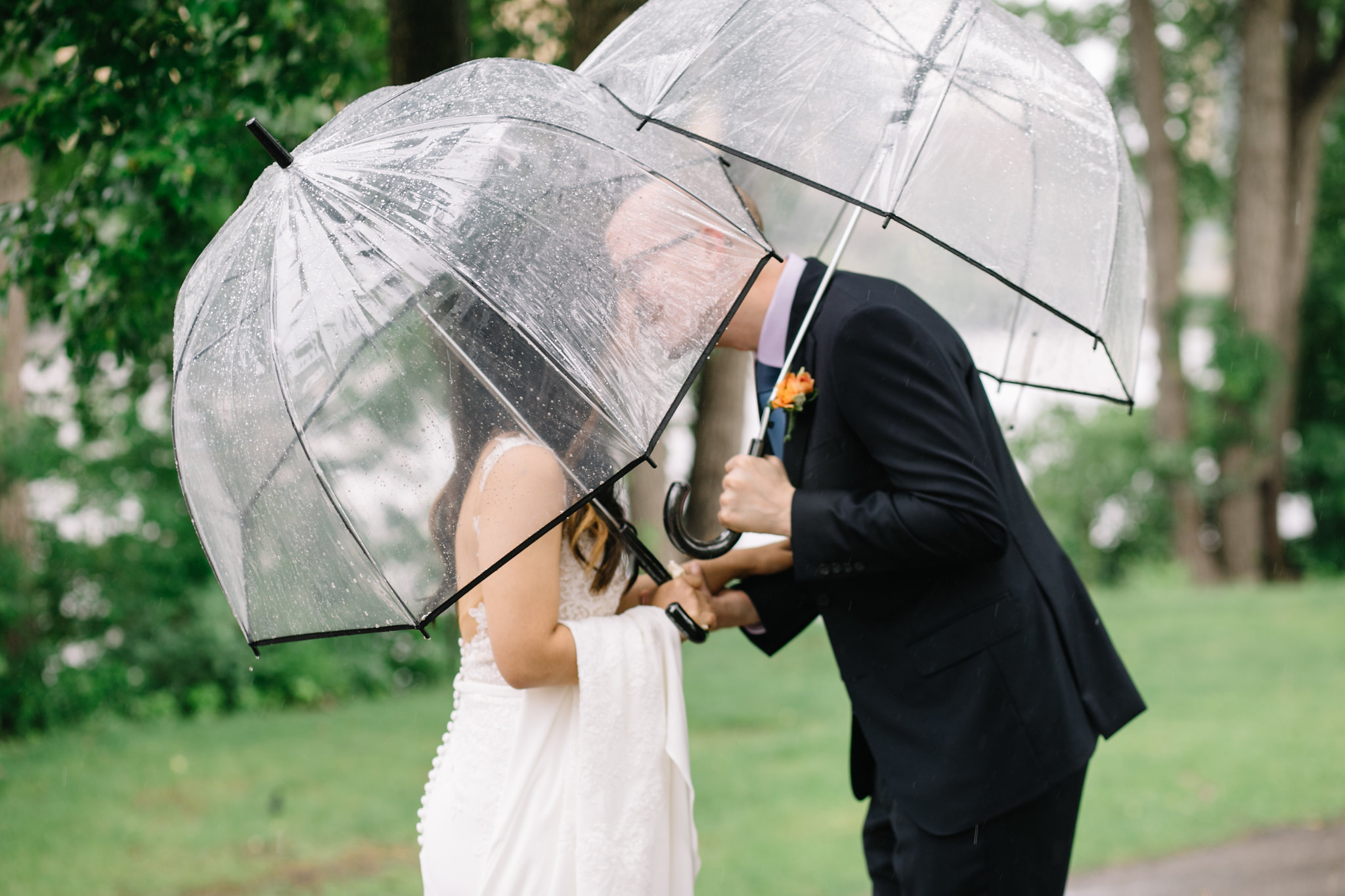 first look in the rain, Whims and Joy Minneapolis photographer :: Sixpence Events & Planning Minnesota wedding planner :: Nicollet Island Pavilion.jpg