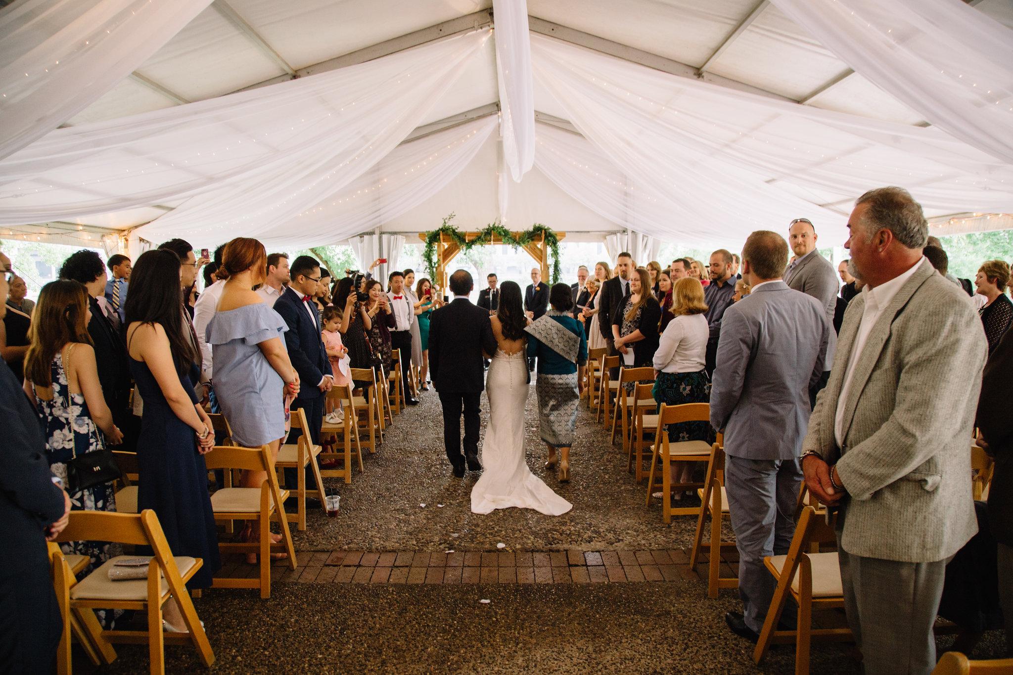 rain back up plan, tent draping, Whims and Joy Minneapolis photographer :: Sixpence Events & Planning Minnesota wedding planner :: Nicollet Island Pavilion.jpg