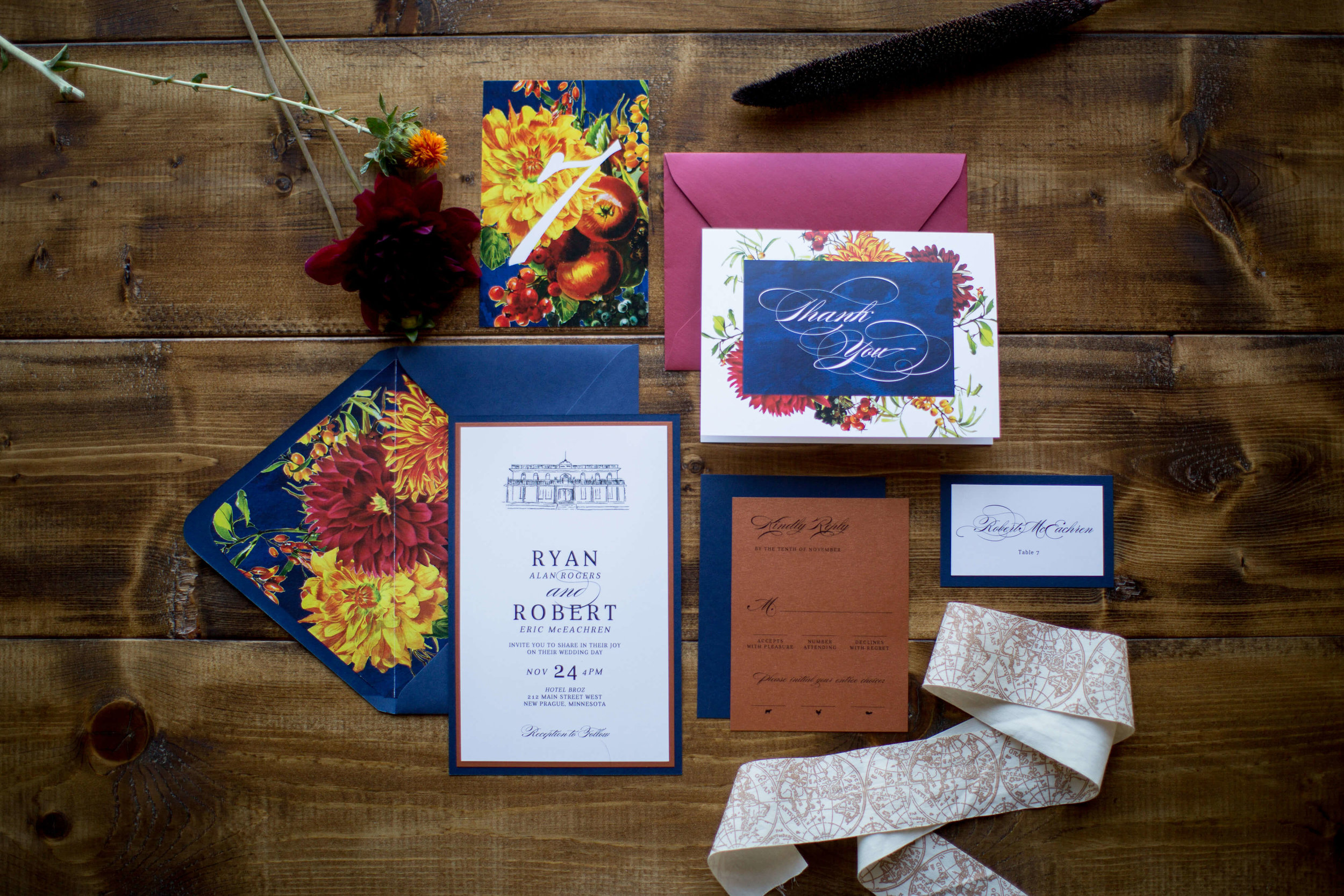 Invitation suite flat lay  | Krista Reynolds Photography | Sixpence Events Wedding planning | Ivory Isle Design