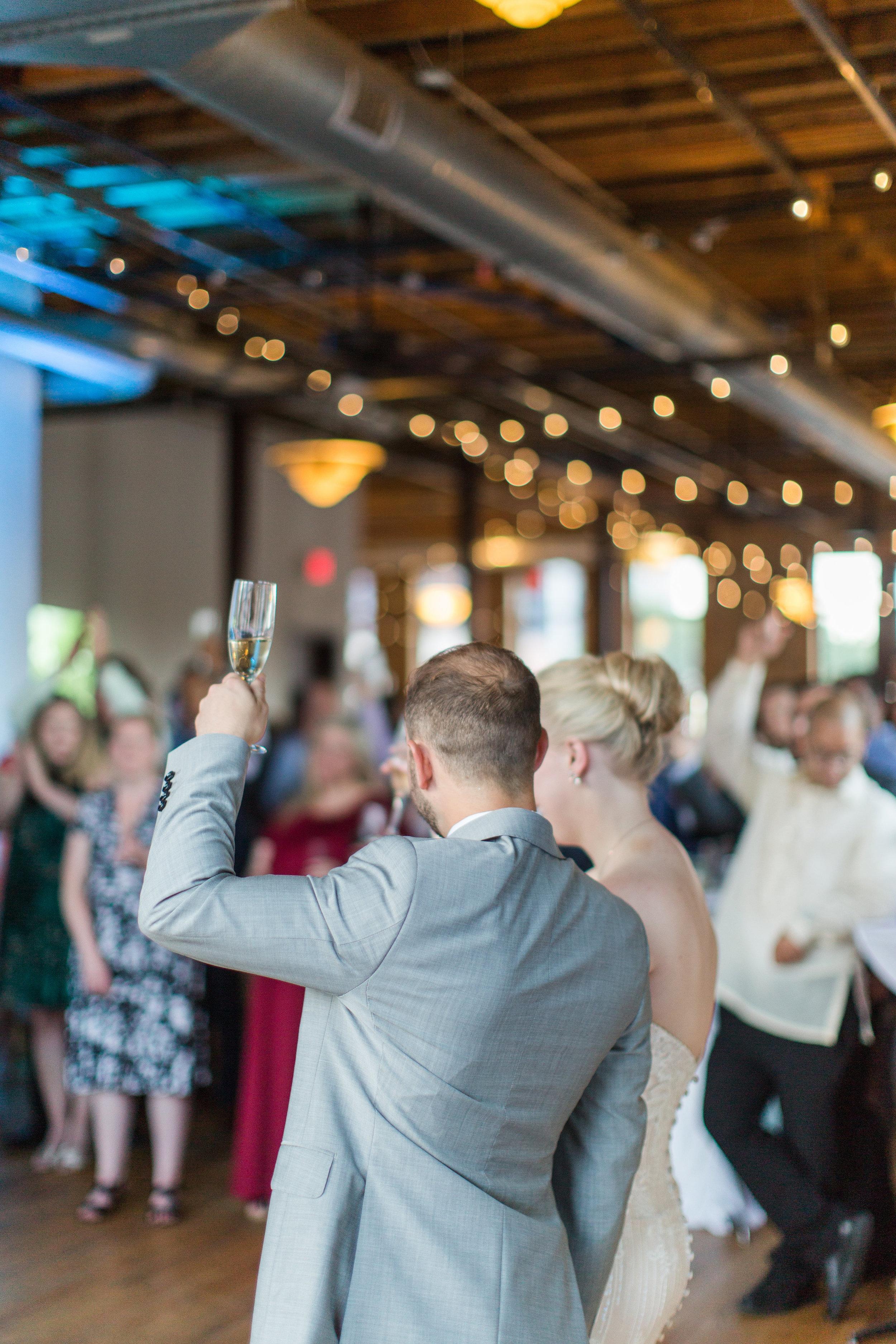 Jill + John :: Kristen Dyer :: Sixpence Events, wedding cheers