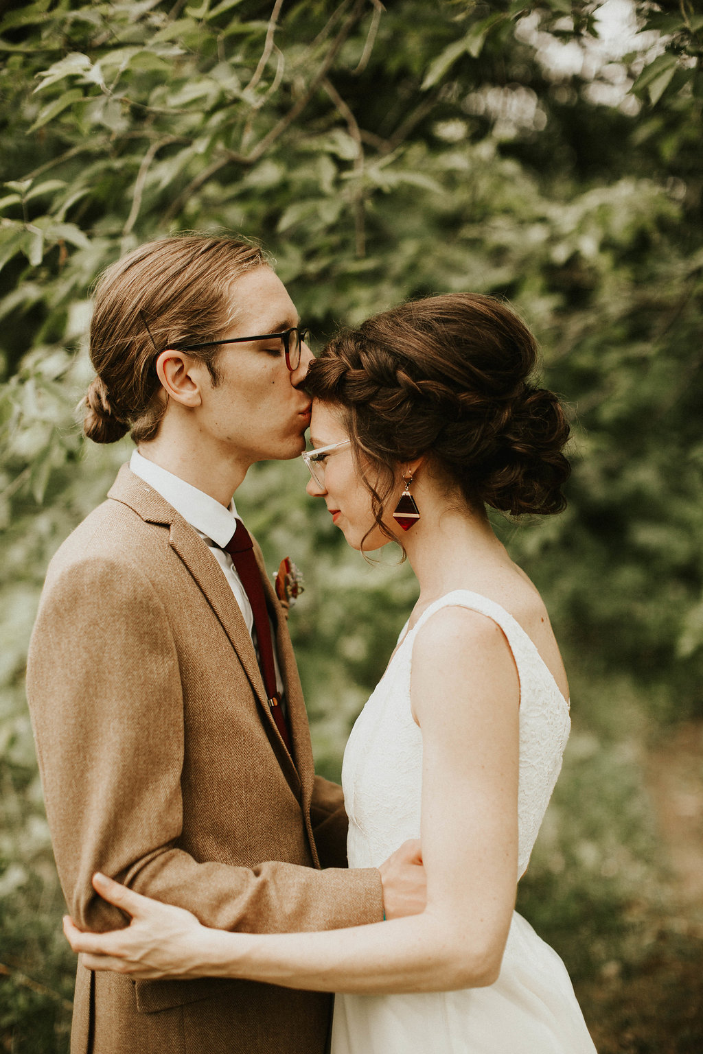 Mike + Cat :: Grace Byron Photography :: Sixpence Events, forehead kiss