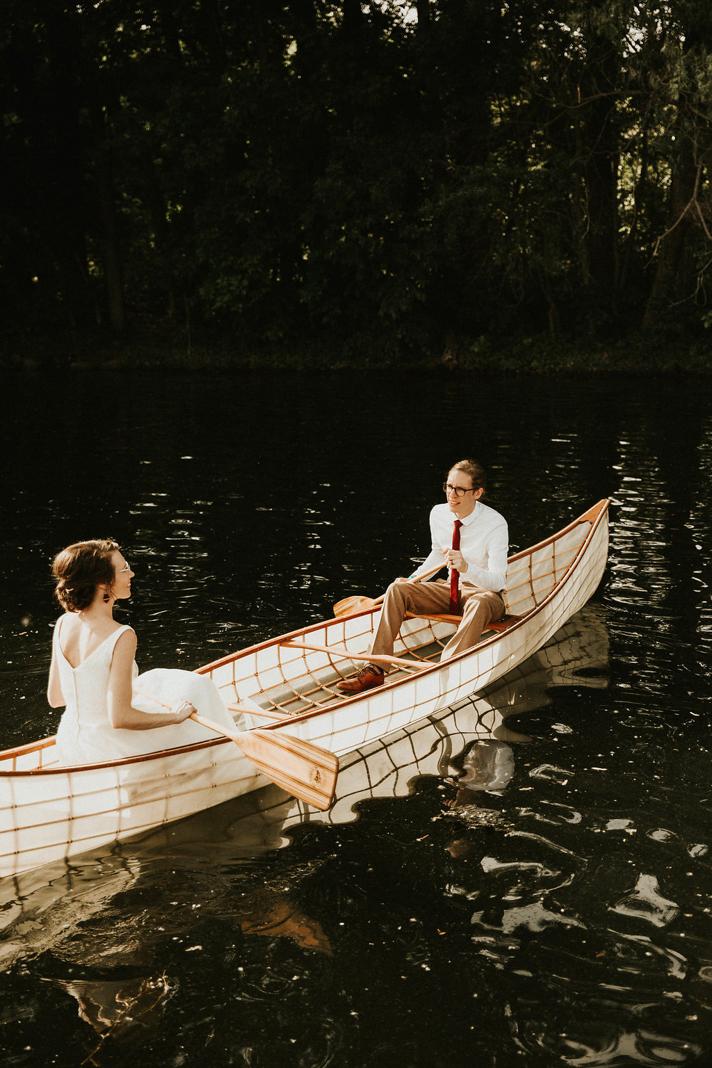 Mike + Cat :: Grace Byron Photography :: Sixpence Events, SIlverwood canoe ride