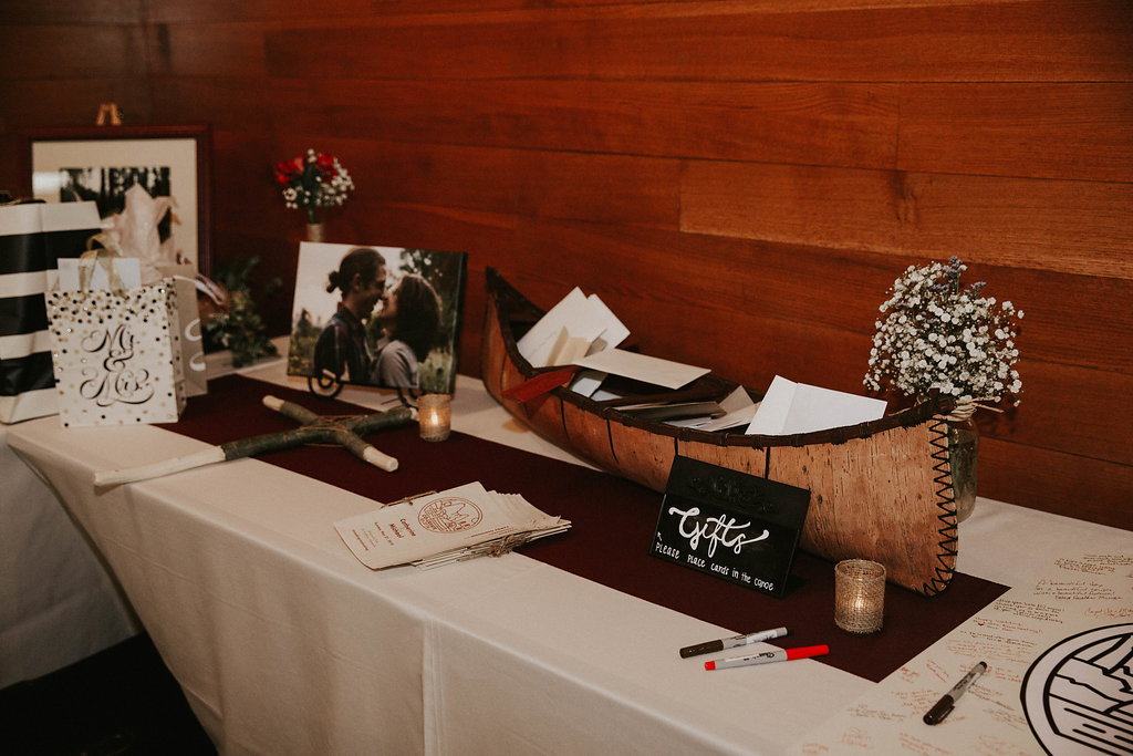 Mike + Cat :: Grace Byron Photography :: Sixpence Events, canoe to collect cards
