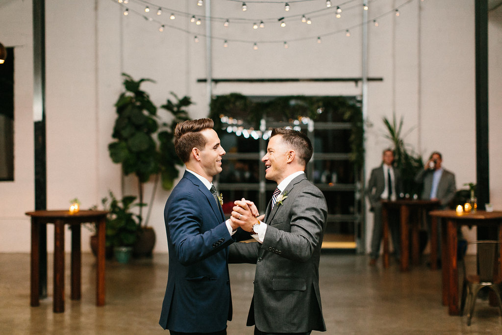 Carly Milbrath Photography   Justin and Jacob   PAIKKA Minnesota Wedding Venue   Same sex wedding with two grooms, first dance two grooms