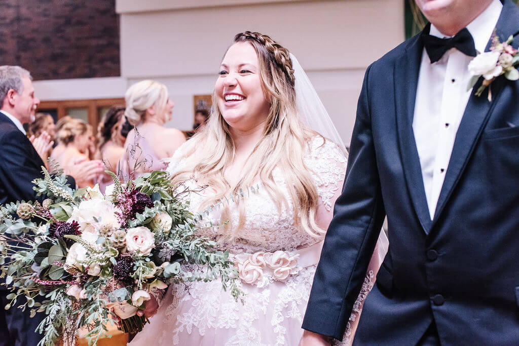 Laura Haya Photography | Sixpence Events Day of Coordinating | Bunker Hills Event Center Minnesota | just married at St. William's Church, Fridley