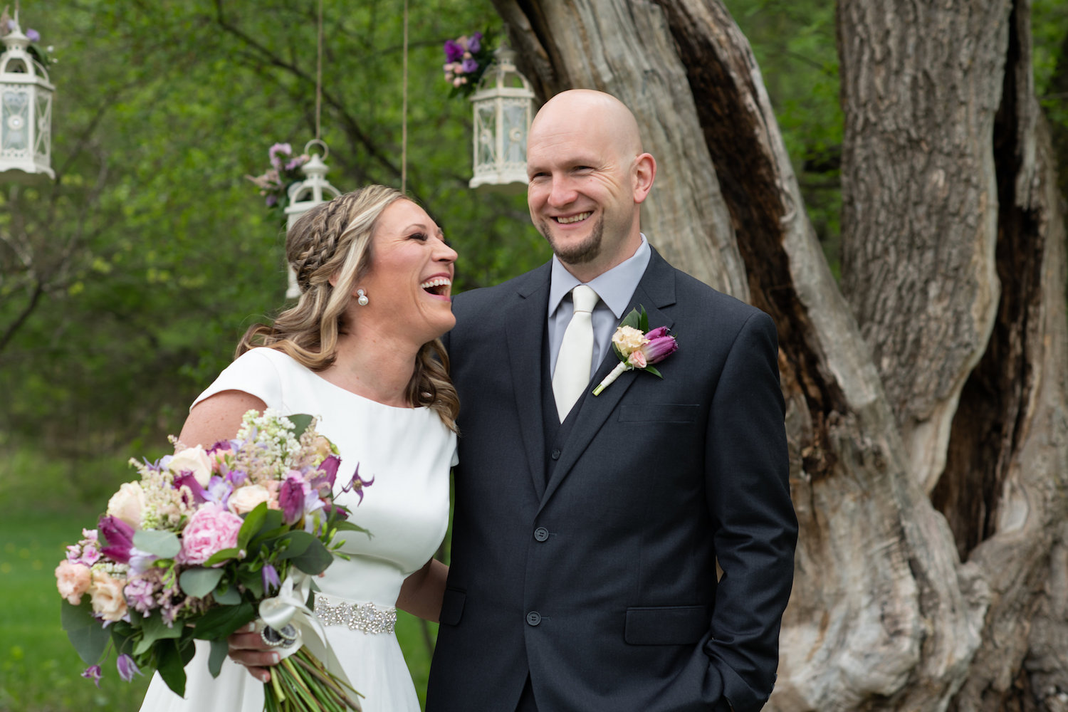 Sarah and Mark | Hope Glen Farm | Kelly Birch Photo | Sixpence Events & Planning wedding planning in Minnesota | happy bride