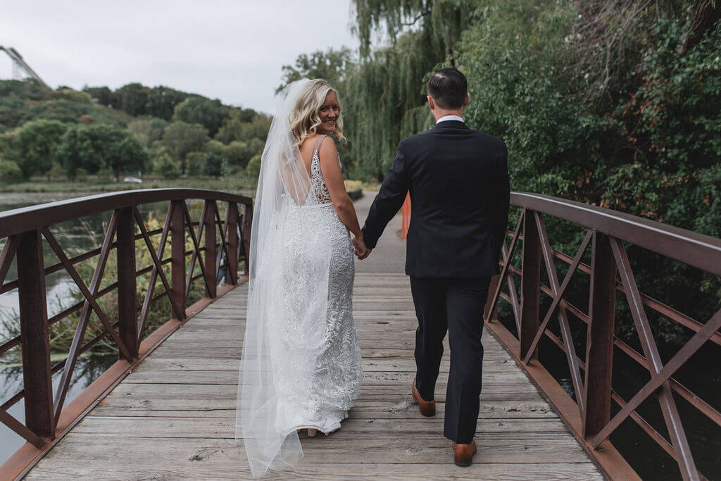 Ashley and Tom | Mariah Brink Photo | Hyland Hills Wedding | Sixpence MN wedding planner  | Normandale Lake wedding picture
