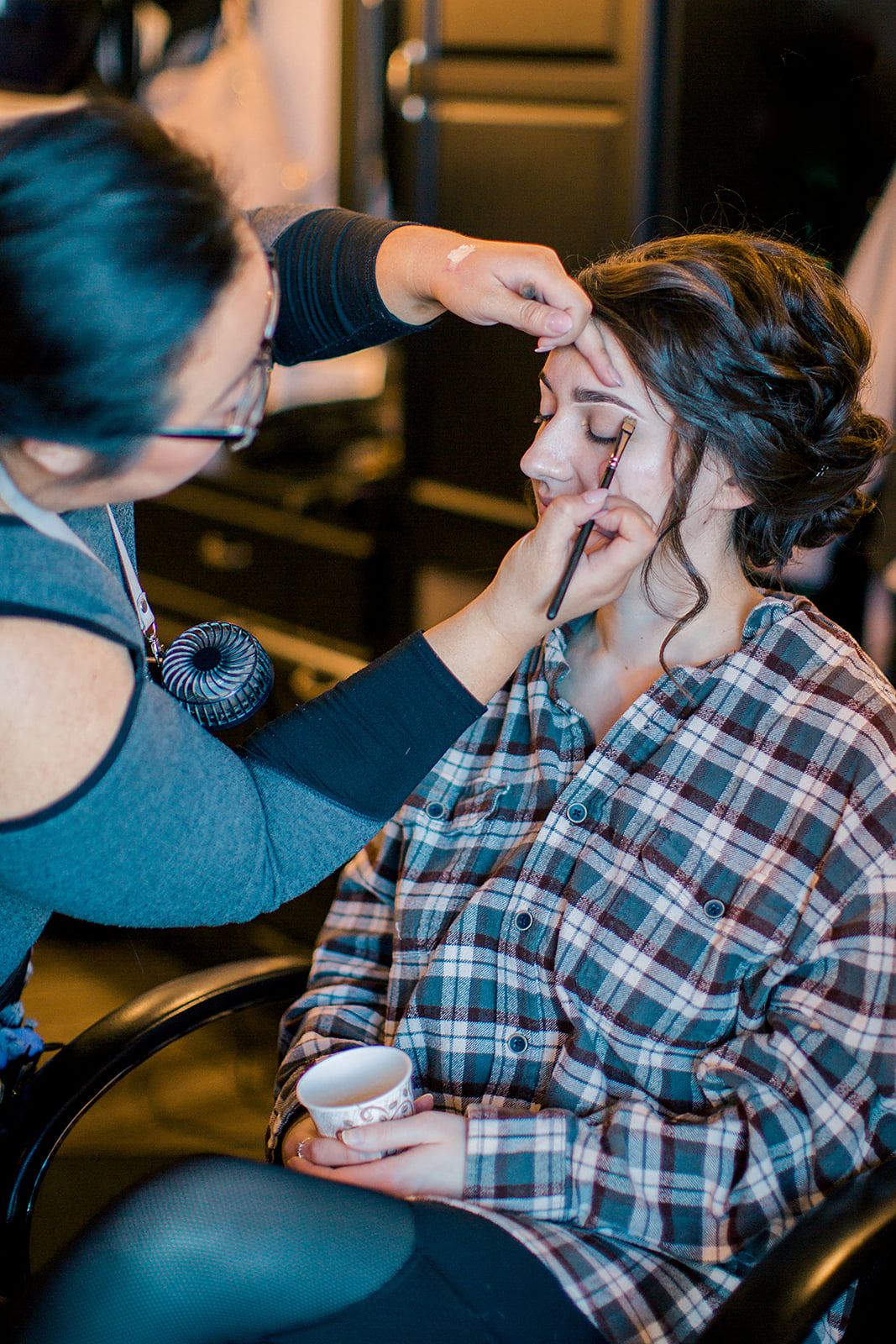 Royal Cliff Styled Shoot photo by Rachel Graff Photography   behind the scenes Miranda Art makeup artist