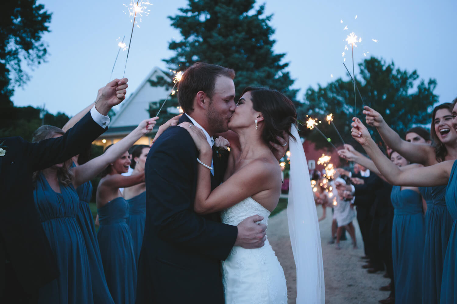 sparkler send off | Lauren Baker Photography and Sixpence Events & Planning Blog post: Must have wedding photography Tips