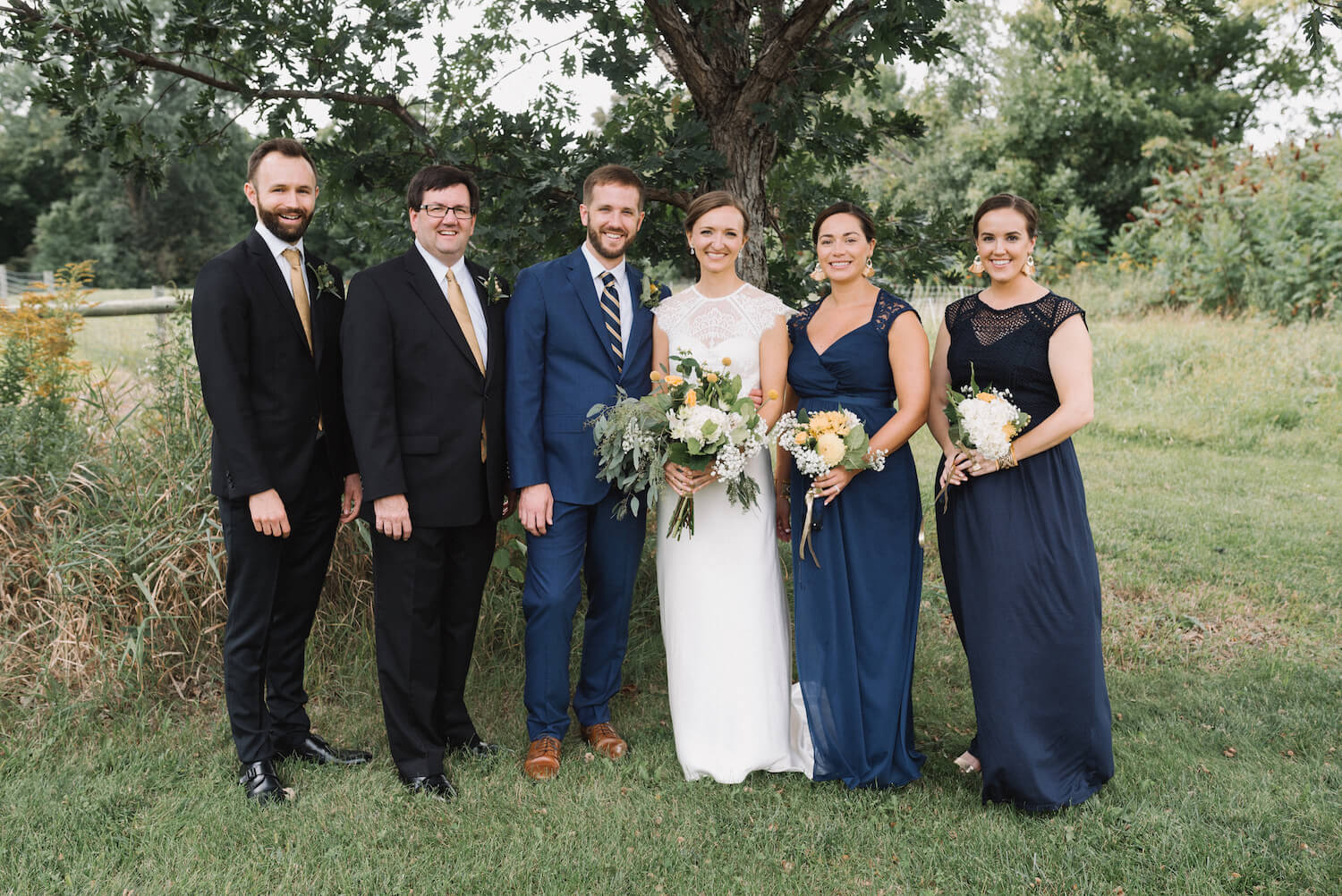 wedding party photos, dad is the best man | Jonny and Liz Minnesota Wedding Photographers | Sixpence day of coordinating at Gale Woods farm venue near the lake.JPG