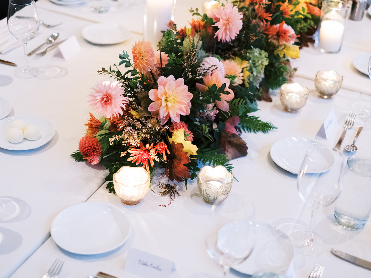 Lady Fern Flowers | local florist in Minneapolis | why you should hire a small florist | greenery and floral table runner