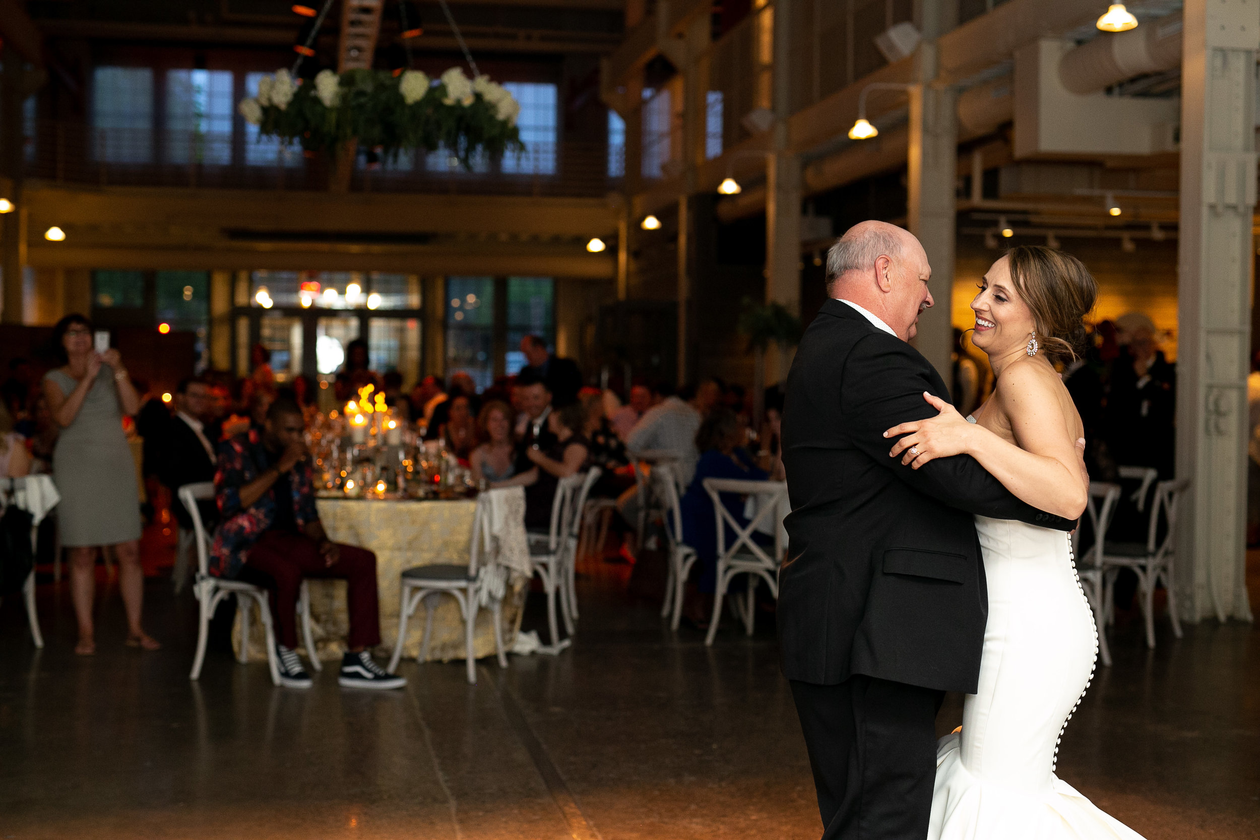 father daughter dance with dad |  Alice HQ Photography | Machine Shop Minneapolis | Sixpence Events and Planning wedding planner.JPG