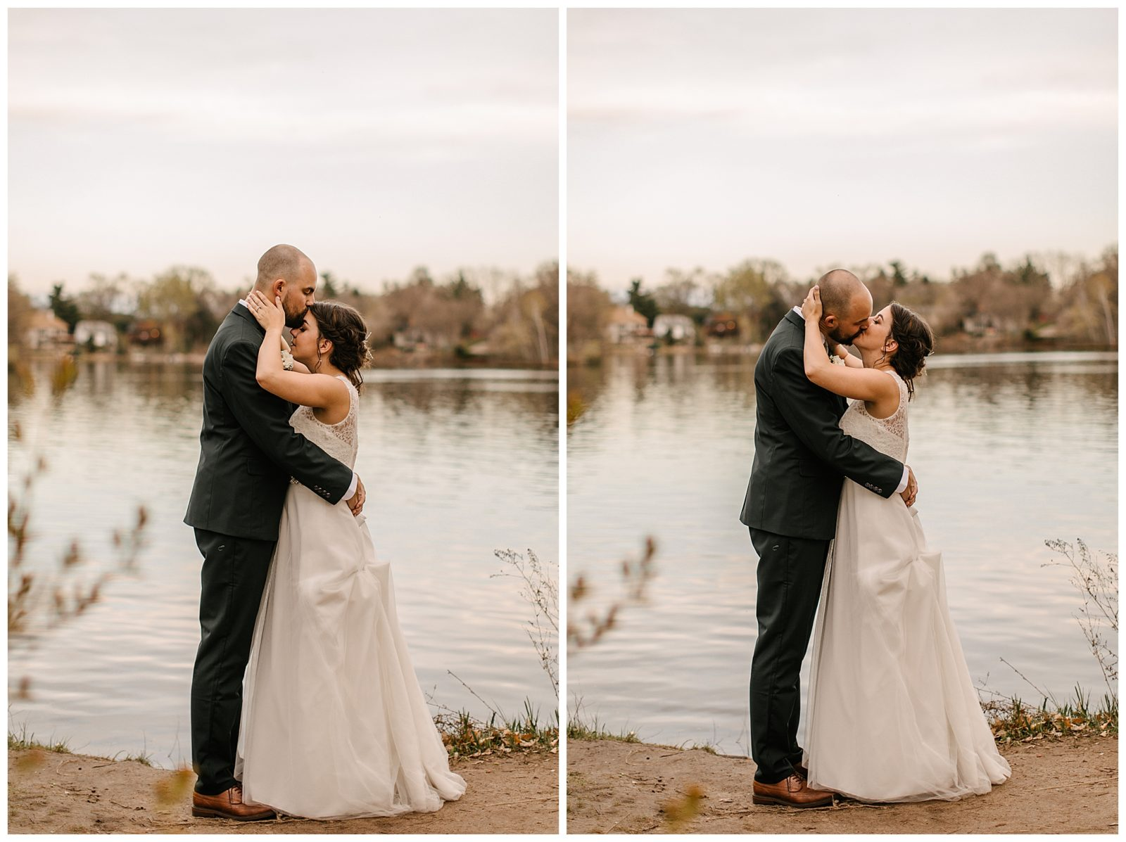 Silverwood Park wedding | May 4th wedding | Tigerlily Photography | Sixpence Events and Planning day of coordinating | pictures in front of the lake