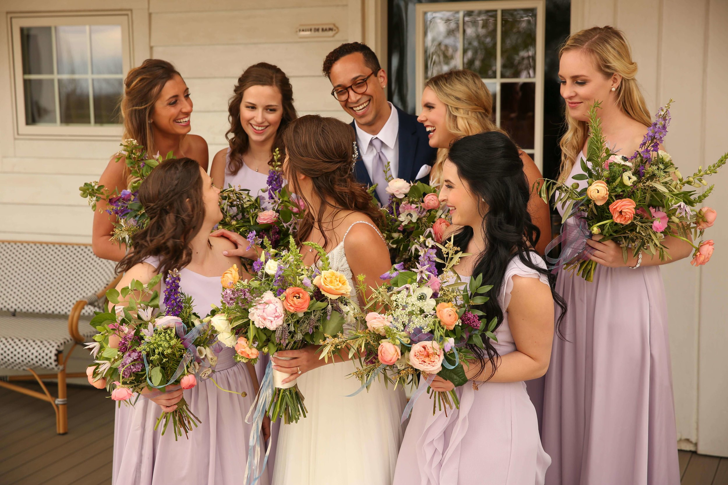 bridesman, lilac bridesmaid dresses, half up dos | Lauren + Adam _ SIxpence Events and Planning _ Legacy Hill Farm _ Unique Touch Photography.jpg
