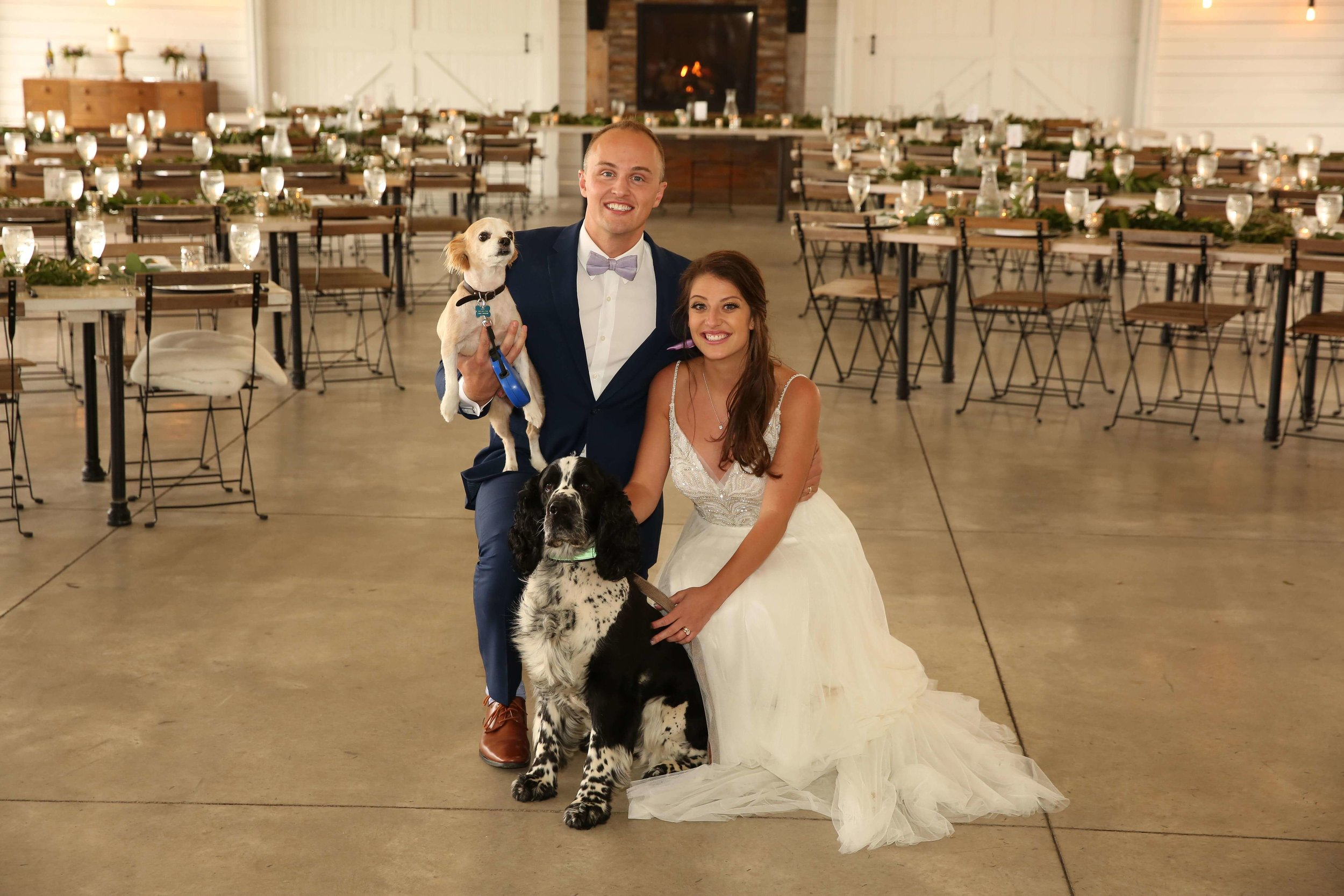family photo with fur babies | Lauren + Adam - SIxpence Events and Planning - Legacy Hill Farm - Unique Touch Photography.jpg