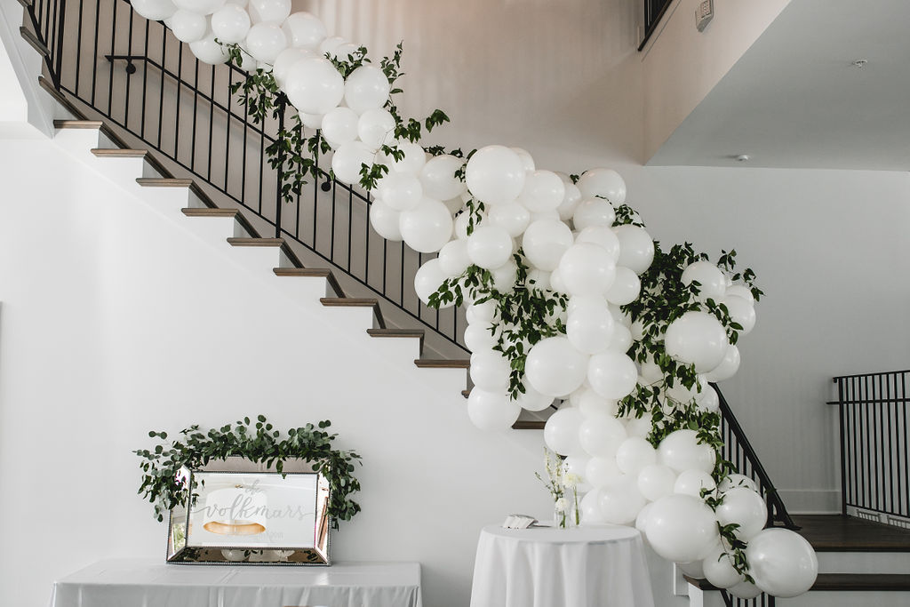 Kelly and Matt | Hutton House stairwell balloons | Aqua Fox Photography | Sixpence Events and Planning Minnesota Wedding Planner78.jpg