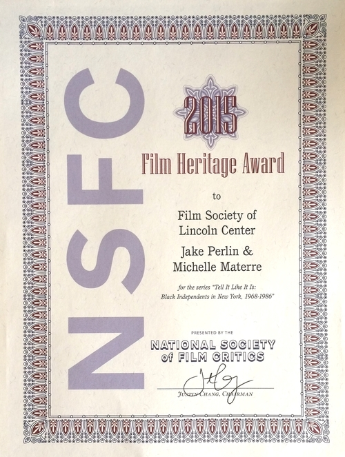 This is an award bestowed by The Society which represents movie criticism in the United States by supplying the official critic delegate to the National Film Preservation Board of the Library of Congress and meets once a year in January to to vote on the Society's awards for the finest film achievements of the previous year.