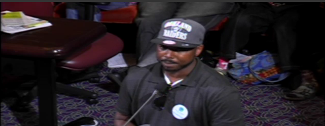 John Jones III from CURYJ advocating for the removal of access barriers for formerly incarcerated residents