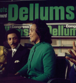 Coretta Scott King showing her support for Ron at his first congressional campaign in 1970.